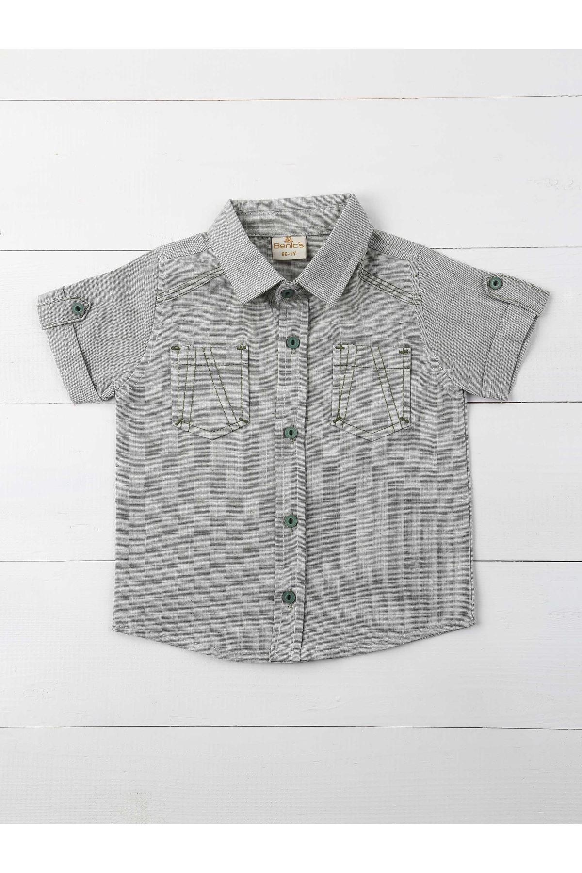 Haki Erkek Çocuk Gömlek