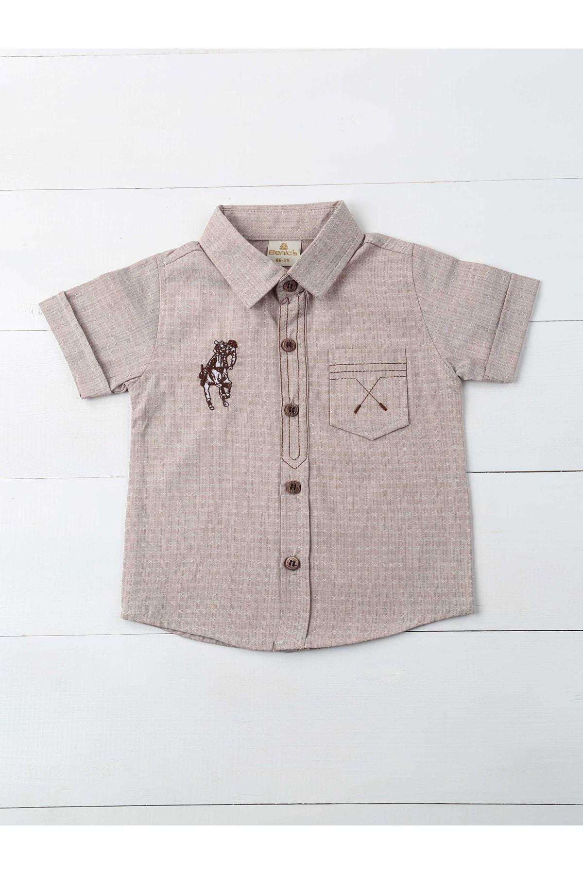 Brown Male Child Shirt