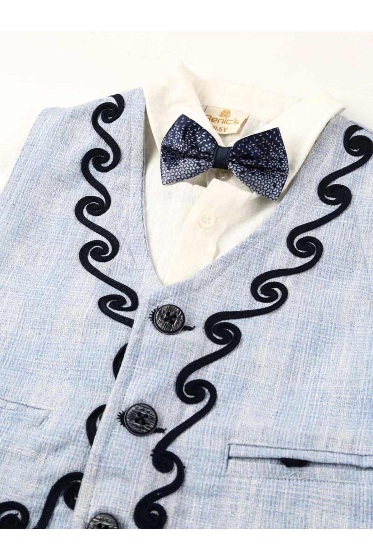 Mavi Erkek Çocuk Takım Elbise