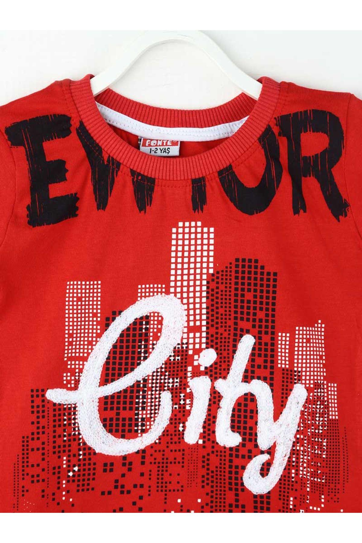 Kırmızı Erkek Çocuk 2li Takım