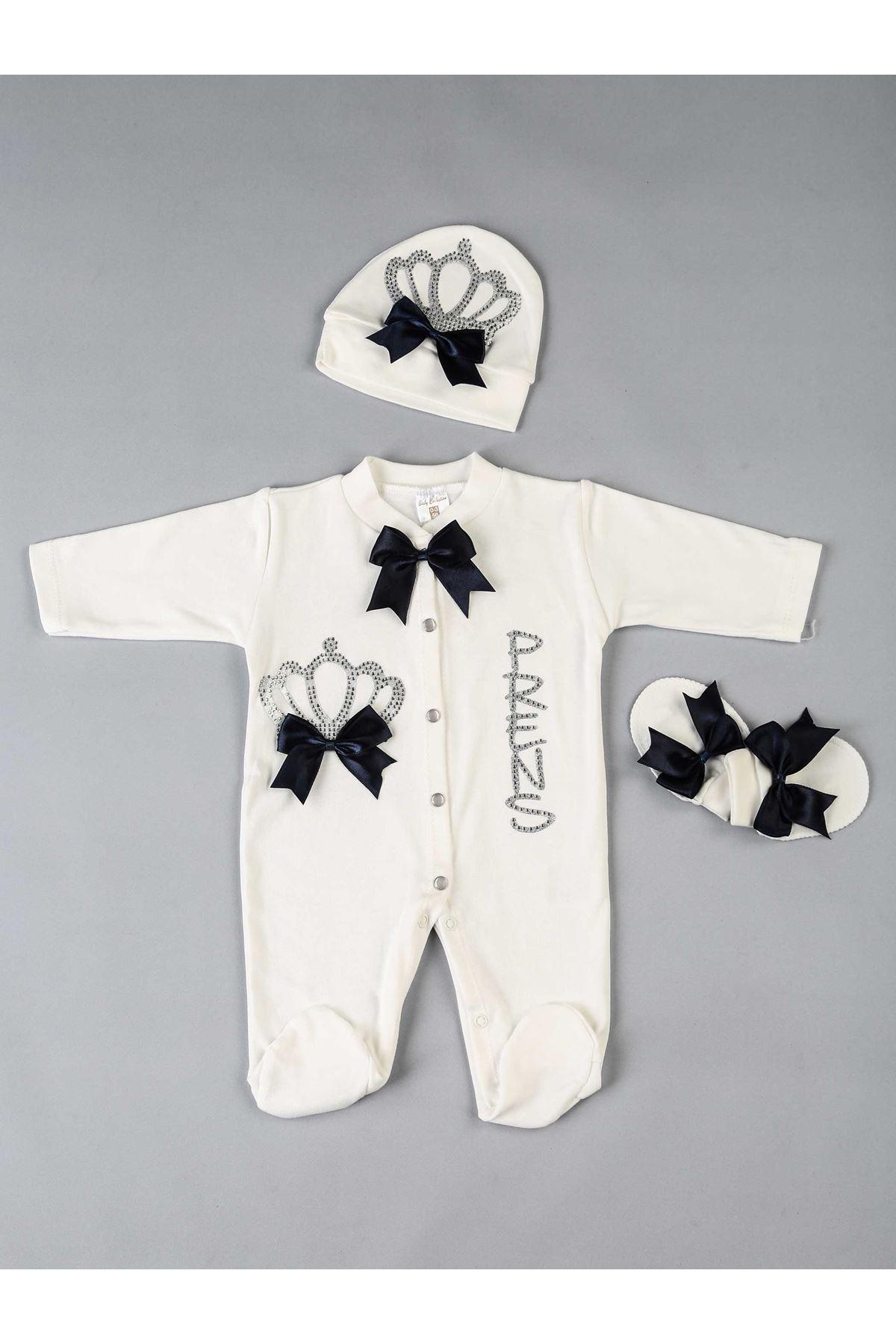 Lacivert Prens 3 lü Erkek Bebek Tulum