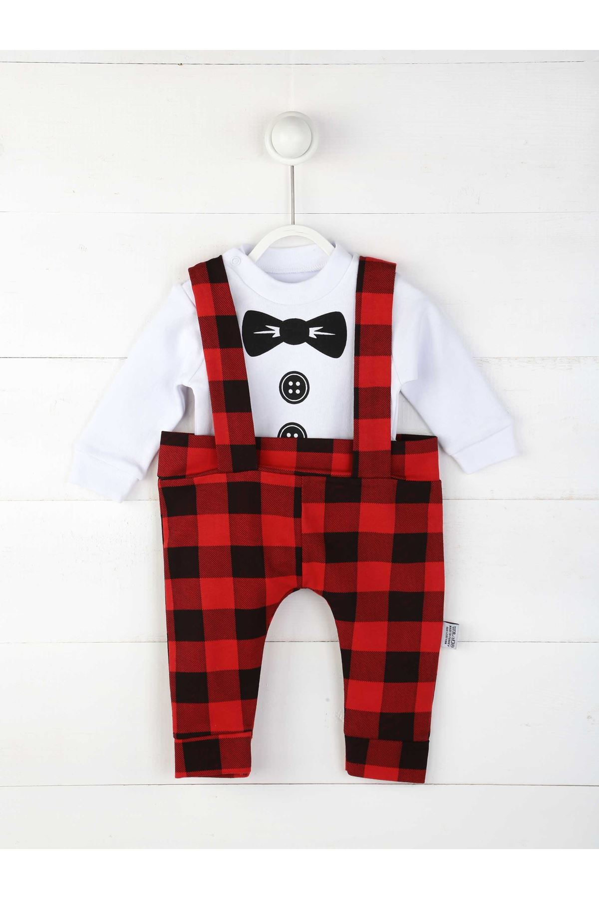 Red Male Baby Slopet Jumpsuit