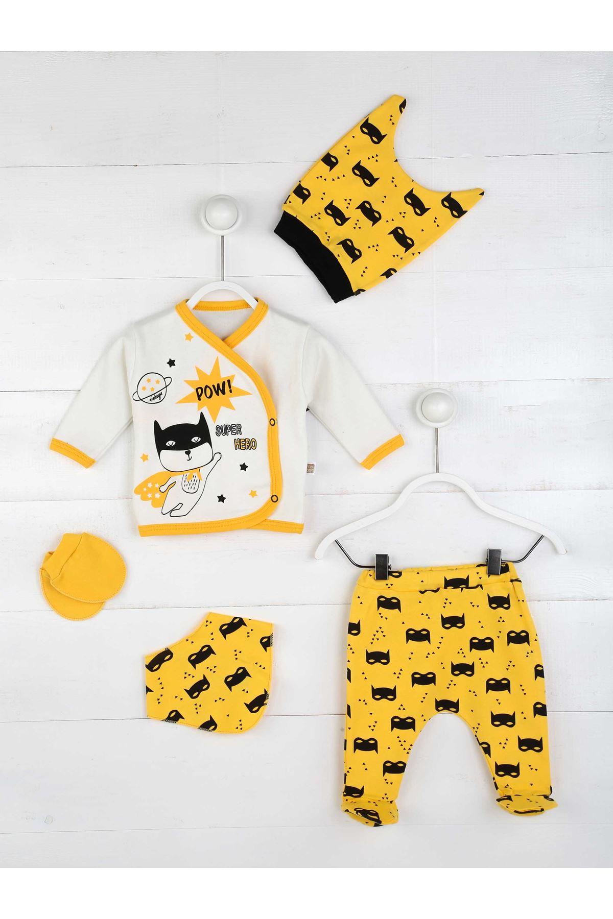 Sarı Erkek Bebek 5 li Hastane Çıkışı