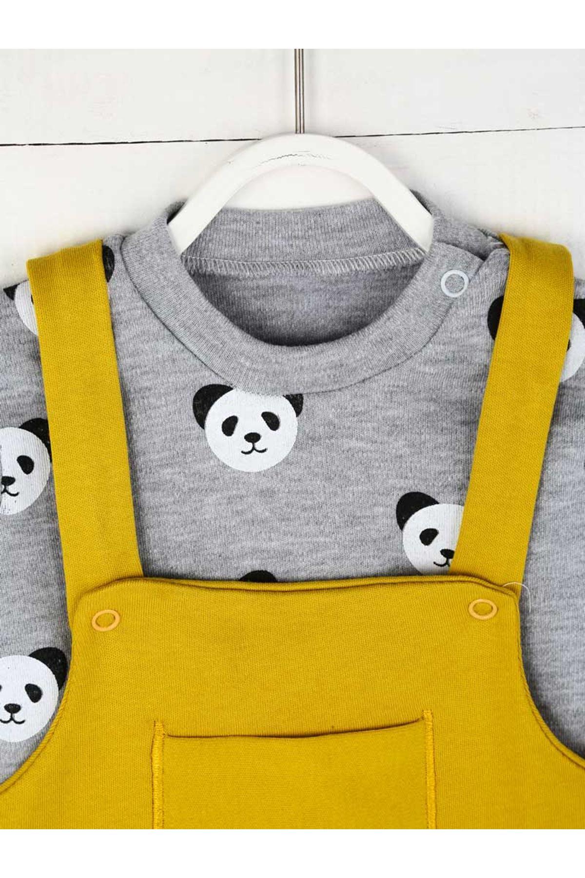 Sarı Yazlık Erkek Bebek Tulum