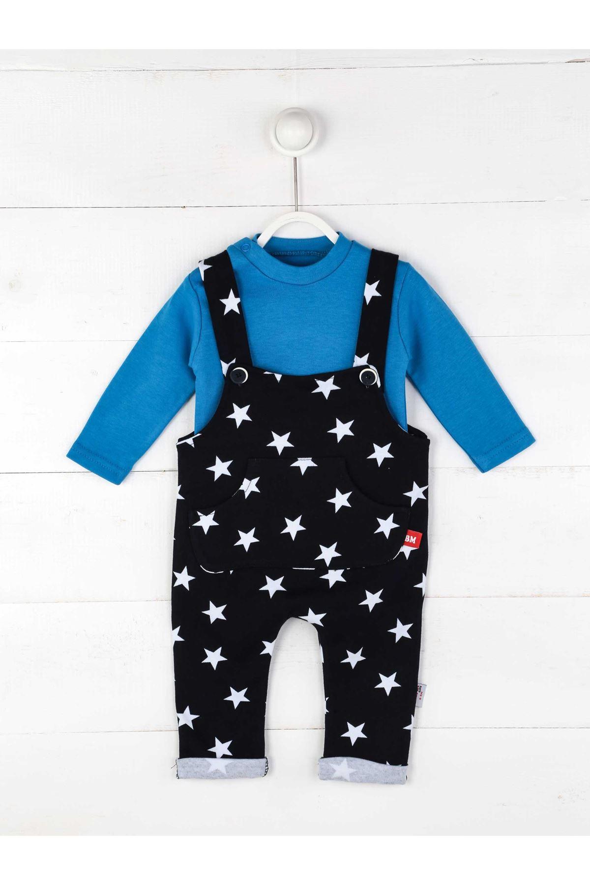 Mavi Erkek Bebek Salopet Tulum
