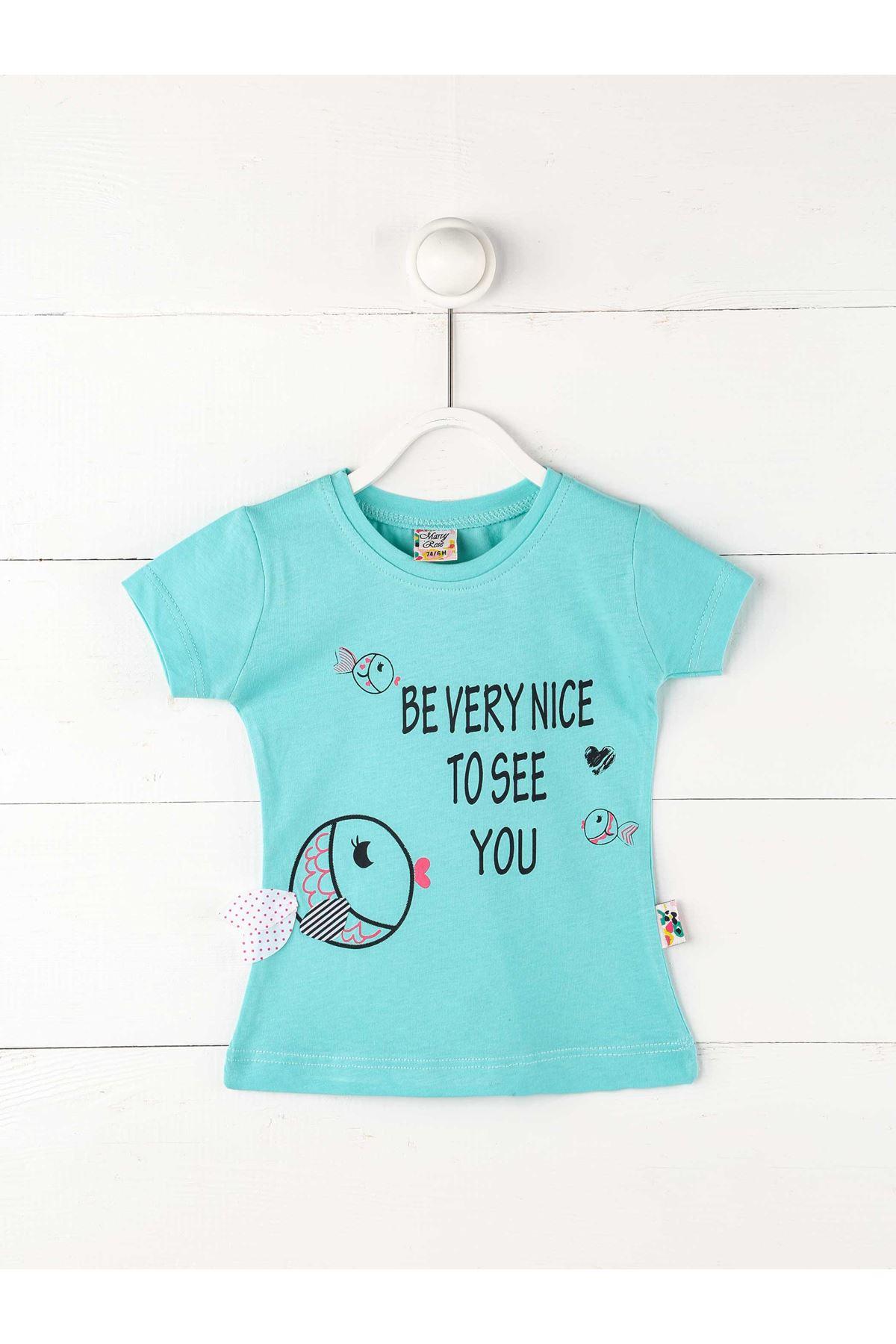Yeşil Kız Bebek  Kısakollu Tişört
