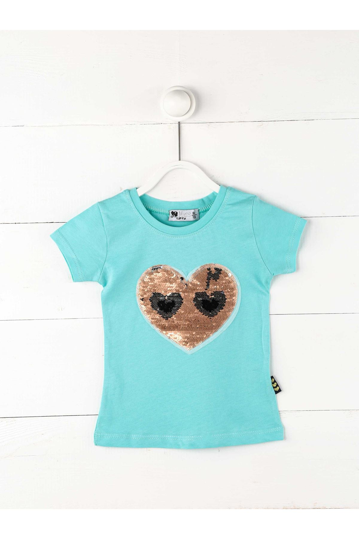 Yeşil Kız Çocuık Kısakollu Tişört