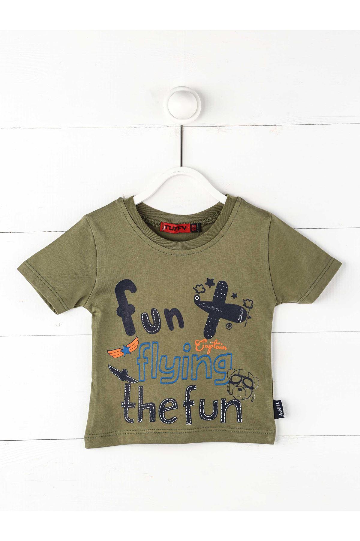 Haki Erkek Bebek Kısakollu Tişört