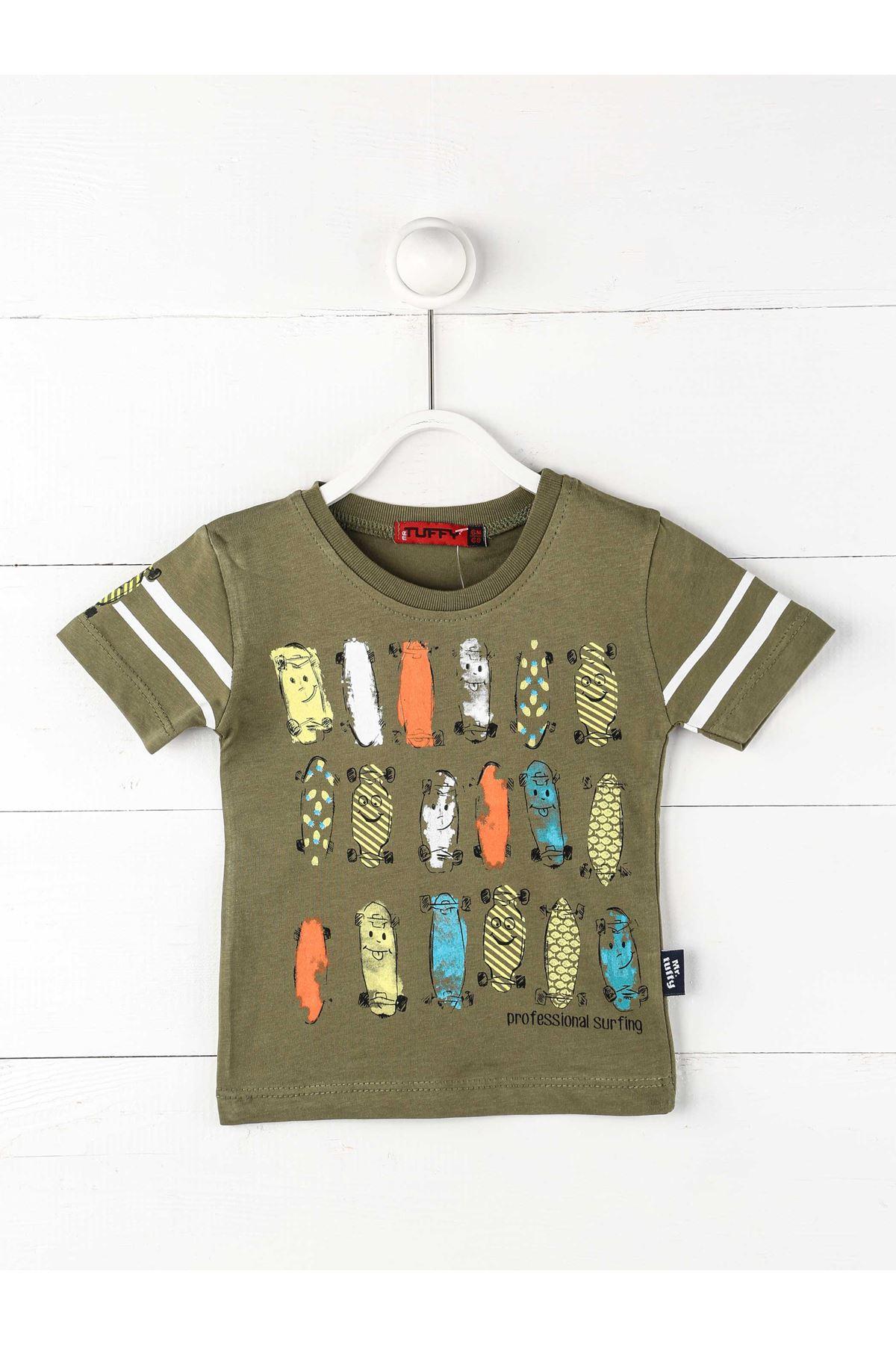 Military Green Baby Boy Short Sleeve T-Shirt