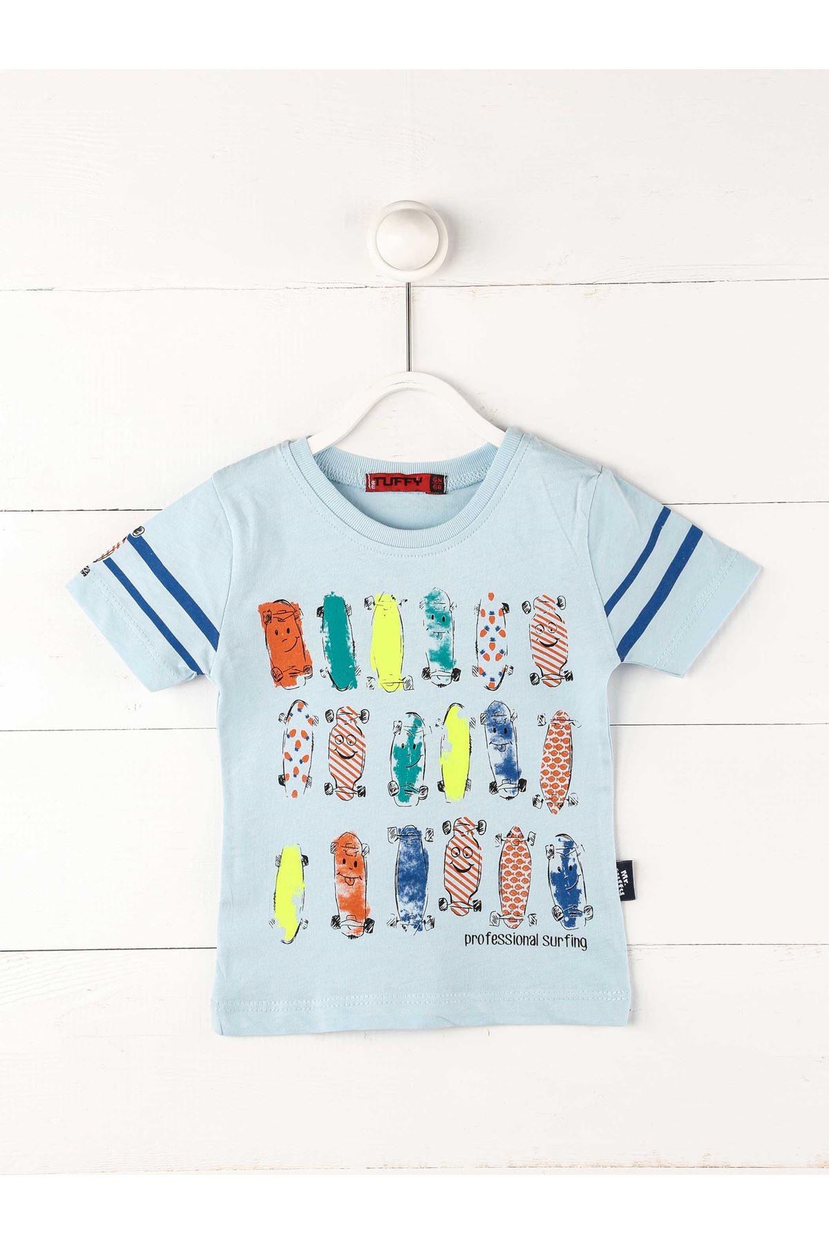 Açık Mavi Erkek Bebek Kısakollu Tişört