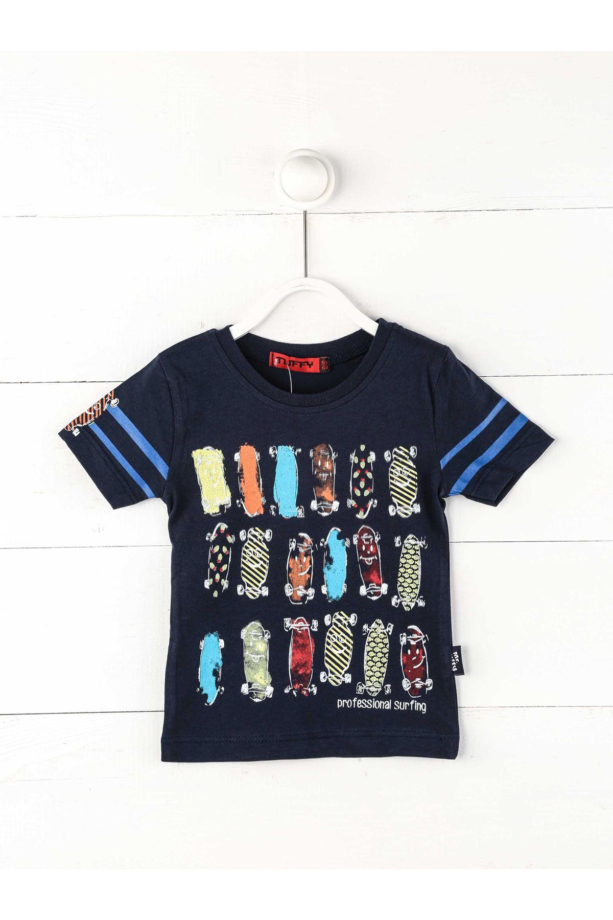 Lacivert Erkek Bebek Kısakollu Tişört