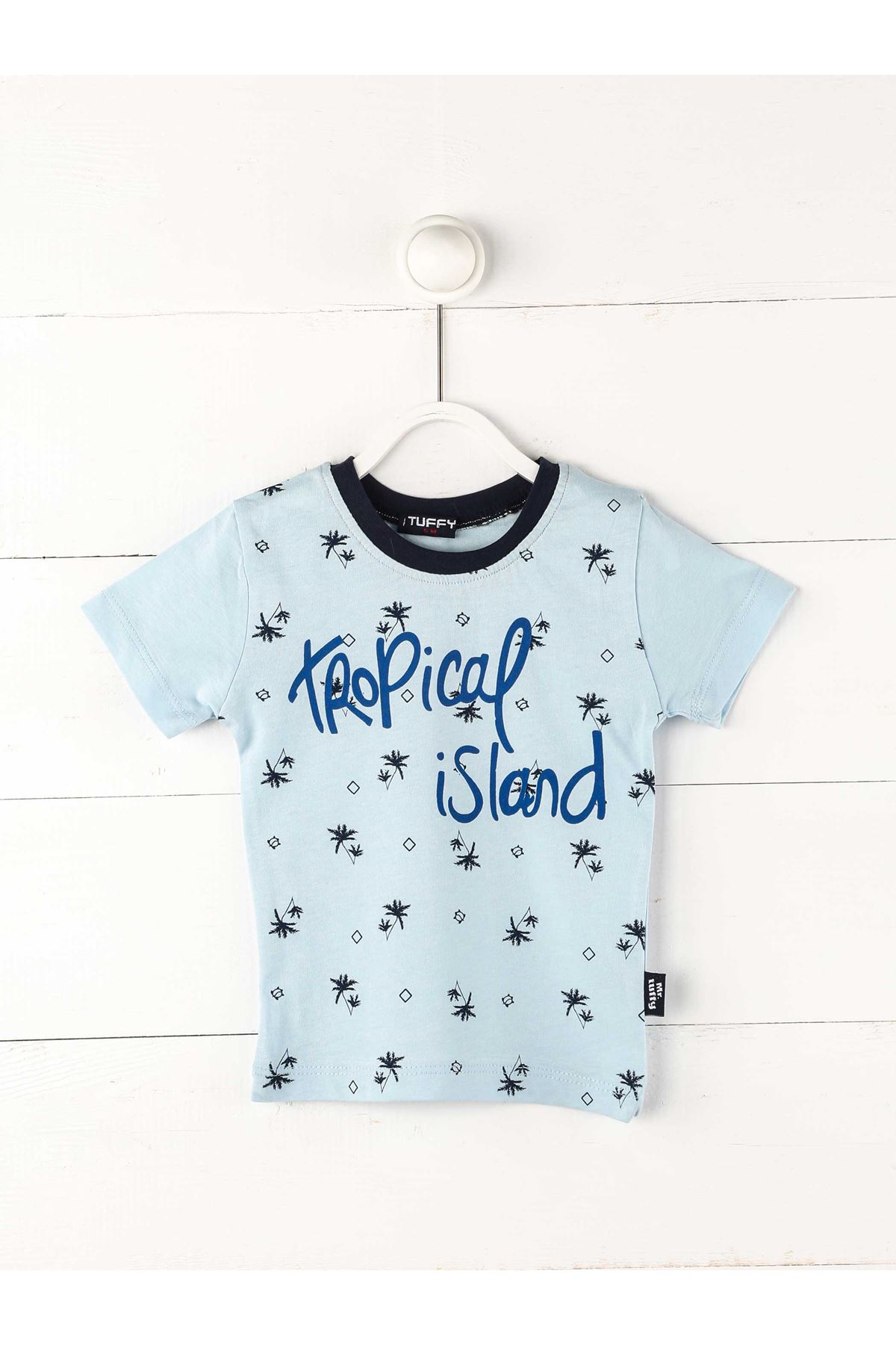 Lightblue Male Baby Short Sleeved T-shirt