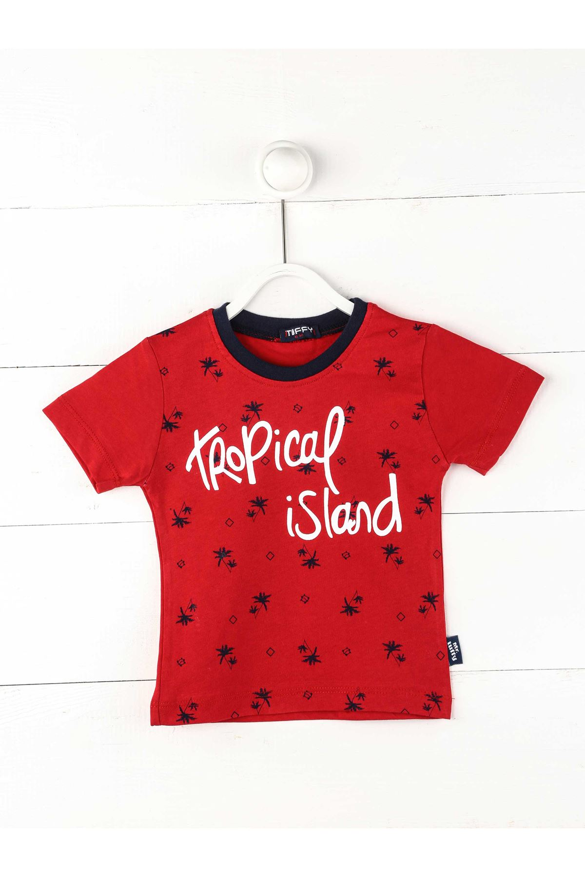 Kırmızı Erkek Bebek Kısakollu Tişört