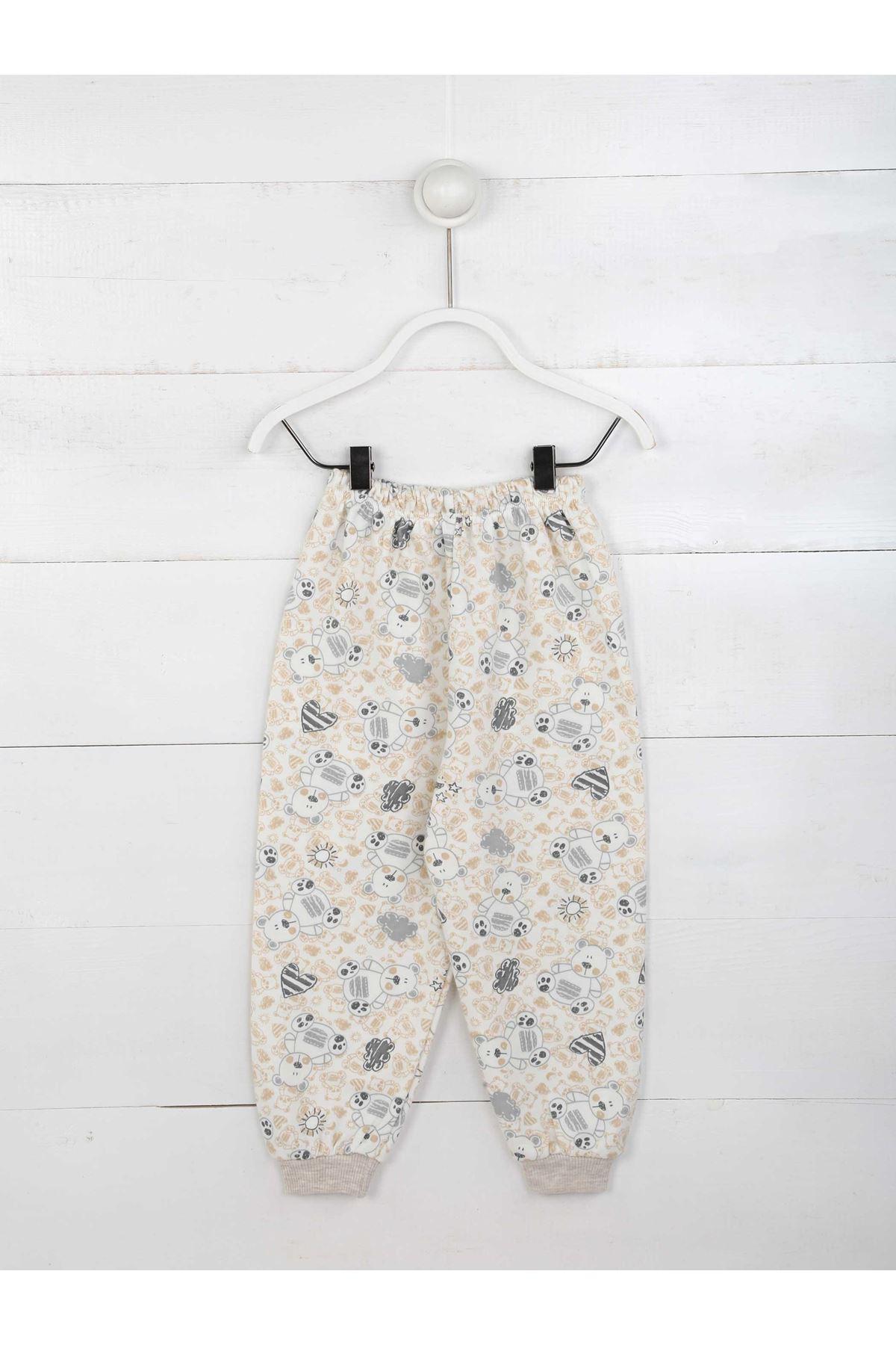 Kahverengi Erkek Çocuk Pijama Takımı