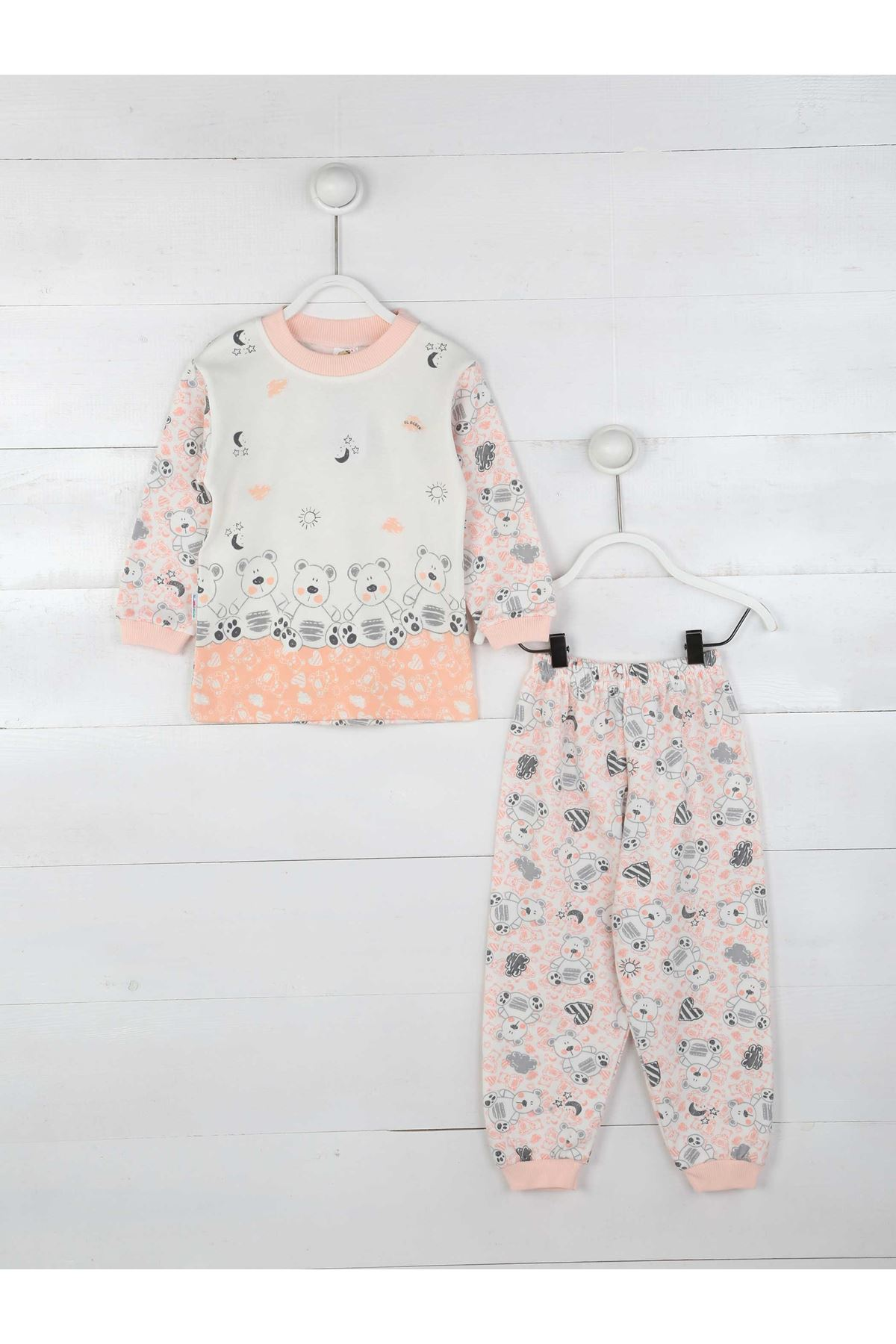 Pudra Kız Çocuk Pijama Takımı