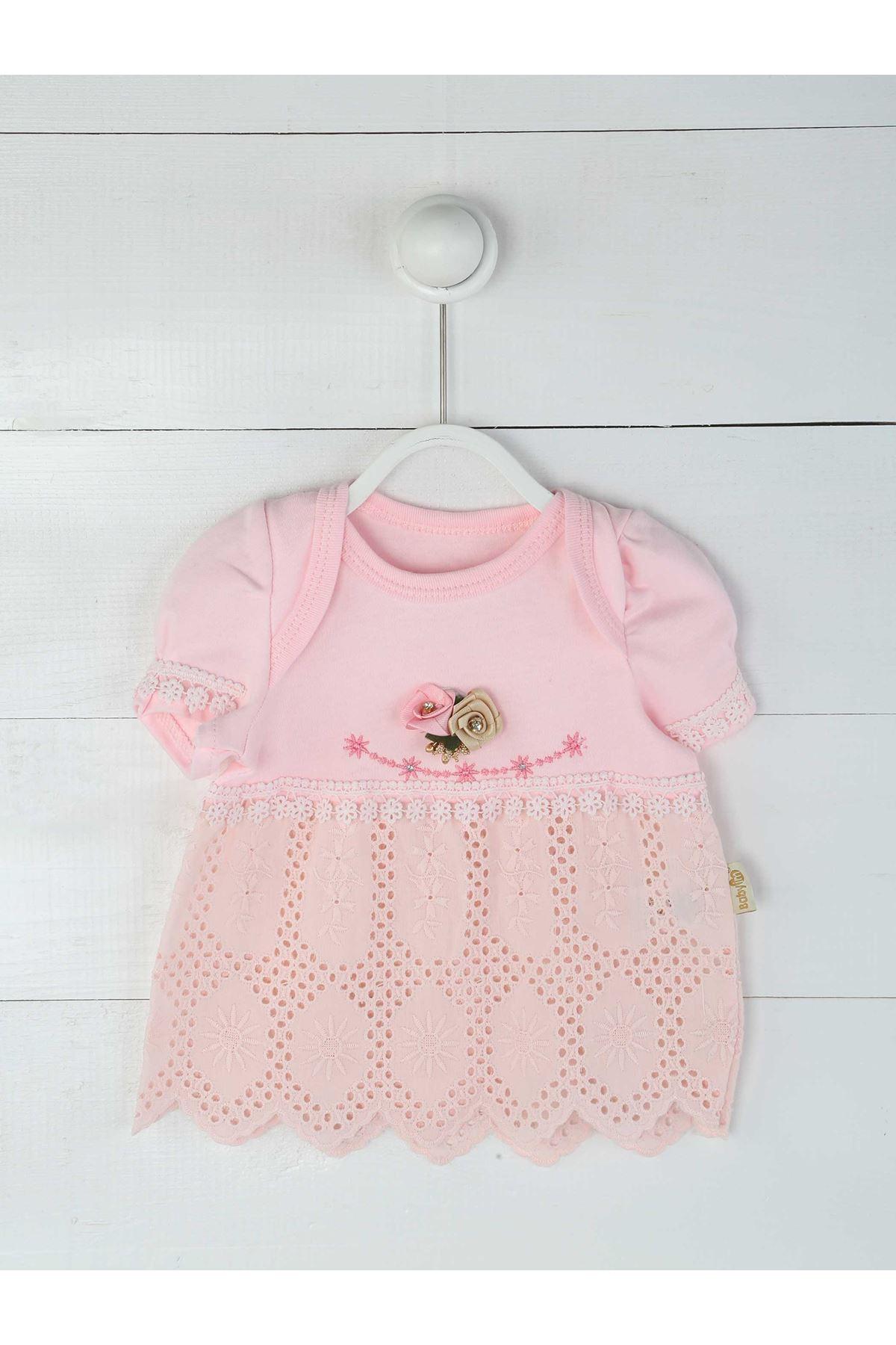 Pembe Yazlık Kız Bebek 3 lü Takım
