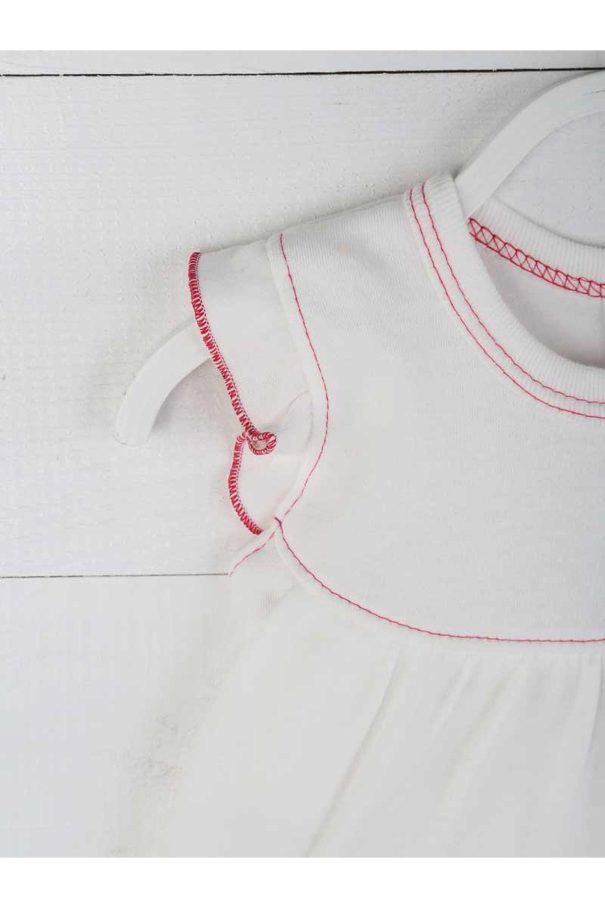 Fuşya Yazlık Kız Bebek Badili Elbise