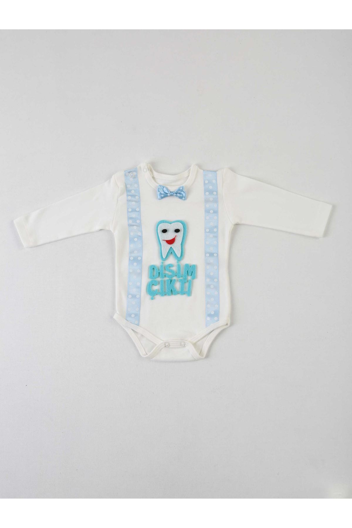 Navy blue My Tooth output 4 Piece Baby suit