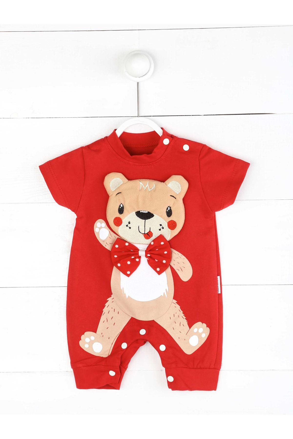 Kırmızı Yazlık Erkek Bebek Tulum