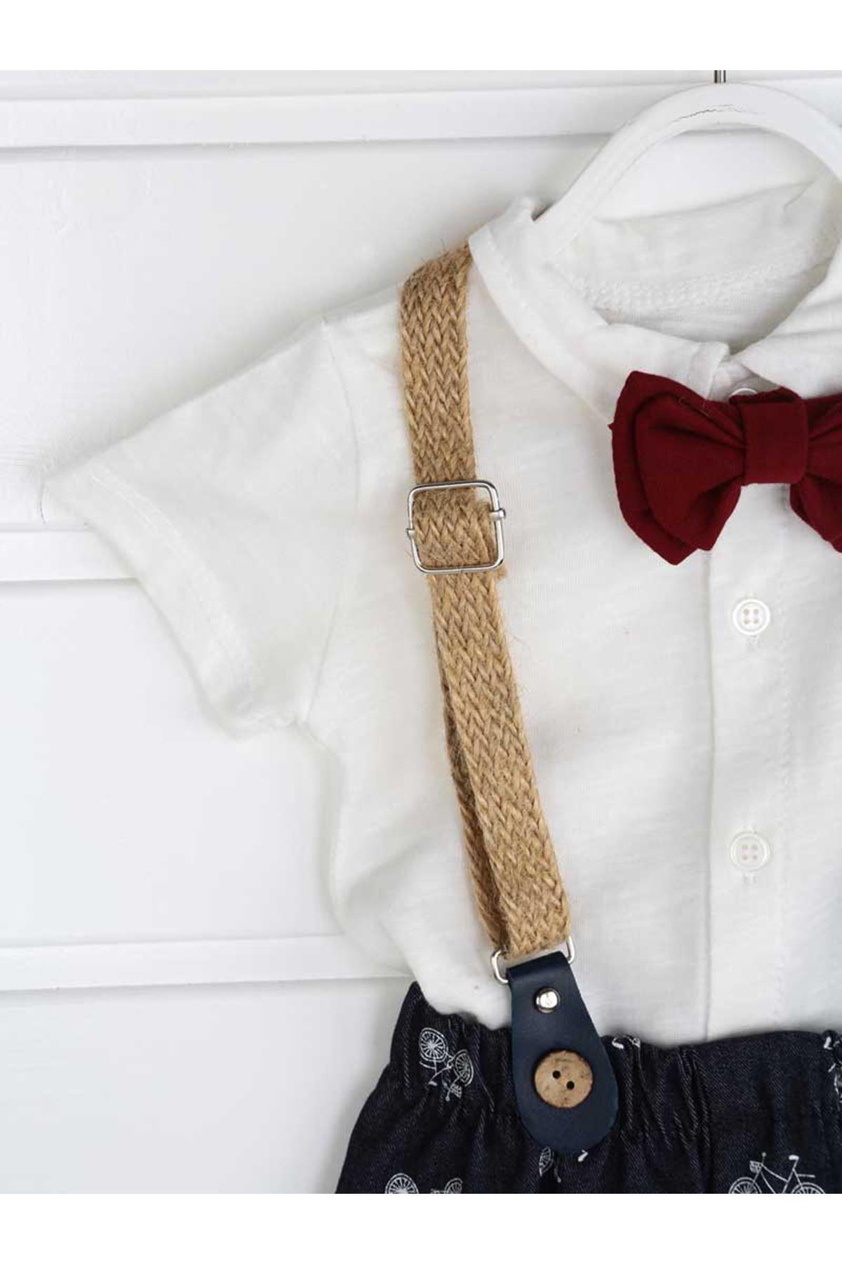 Lacivert Yazlık  Erkek Bebek 4 lü Takım