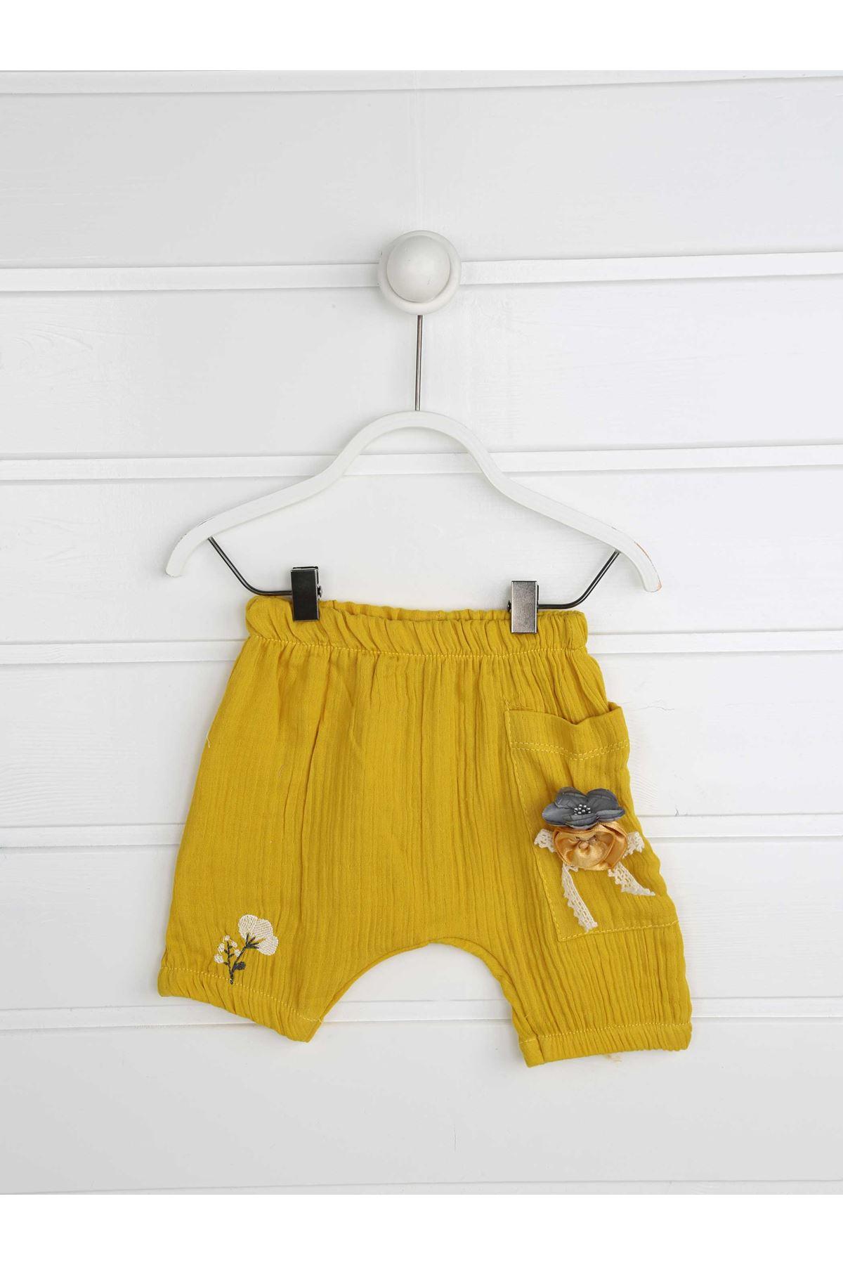 Sarı Yazlık Kız Bebek Takım