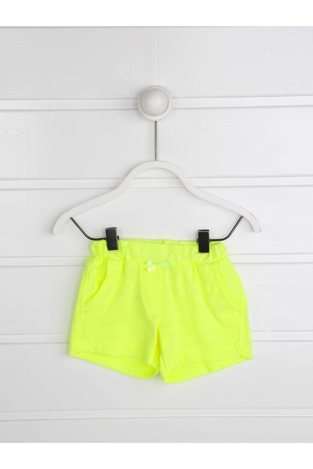 Yeşil Yazlık Kız Bebek Şortlu Takım