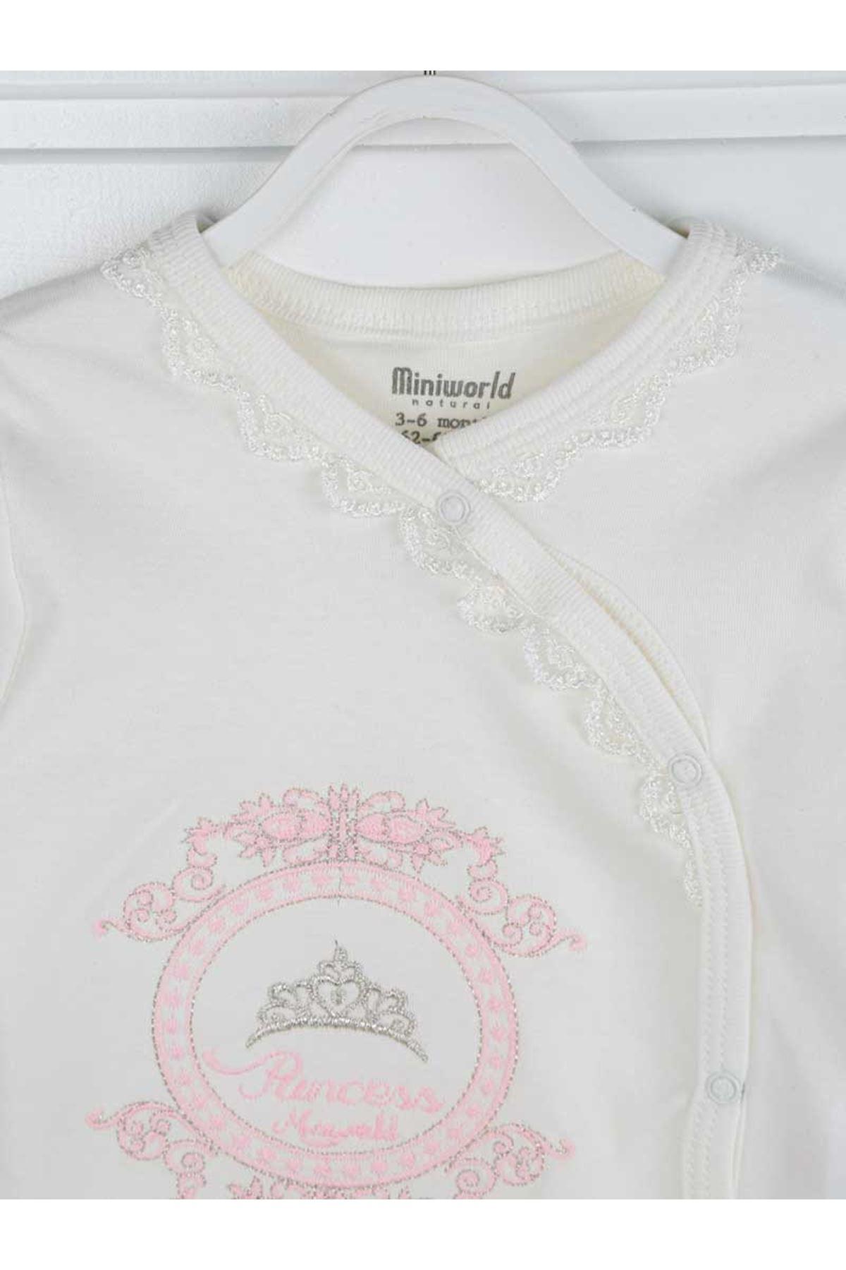 Pembe Prenses Kız Bebek 3 lü Takım