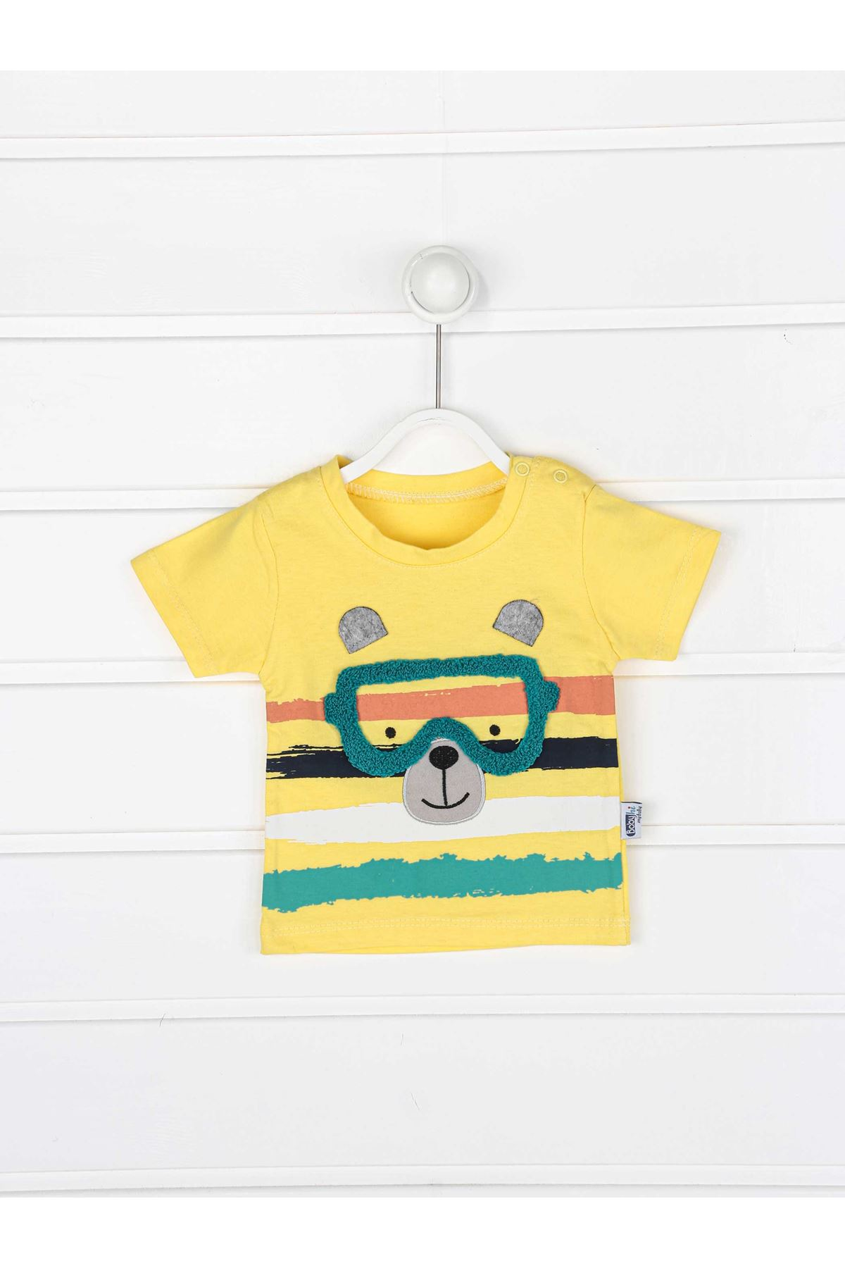 Yellow summer boy shorts t-shirt 2 piece set suit summer vacation style suit models
