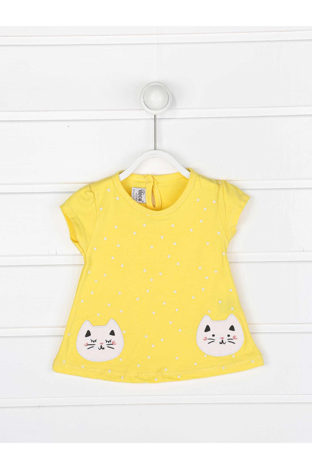 Sarı Yazlık Kız Bebek 3 lü Takım
