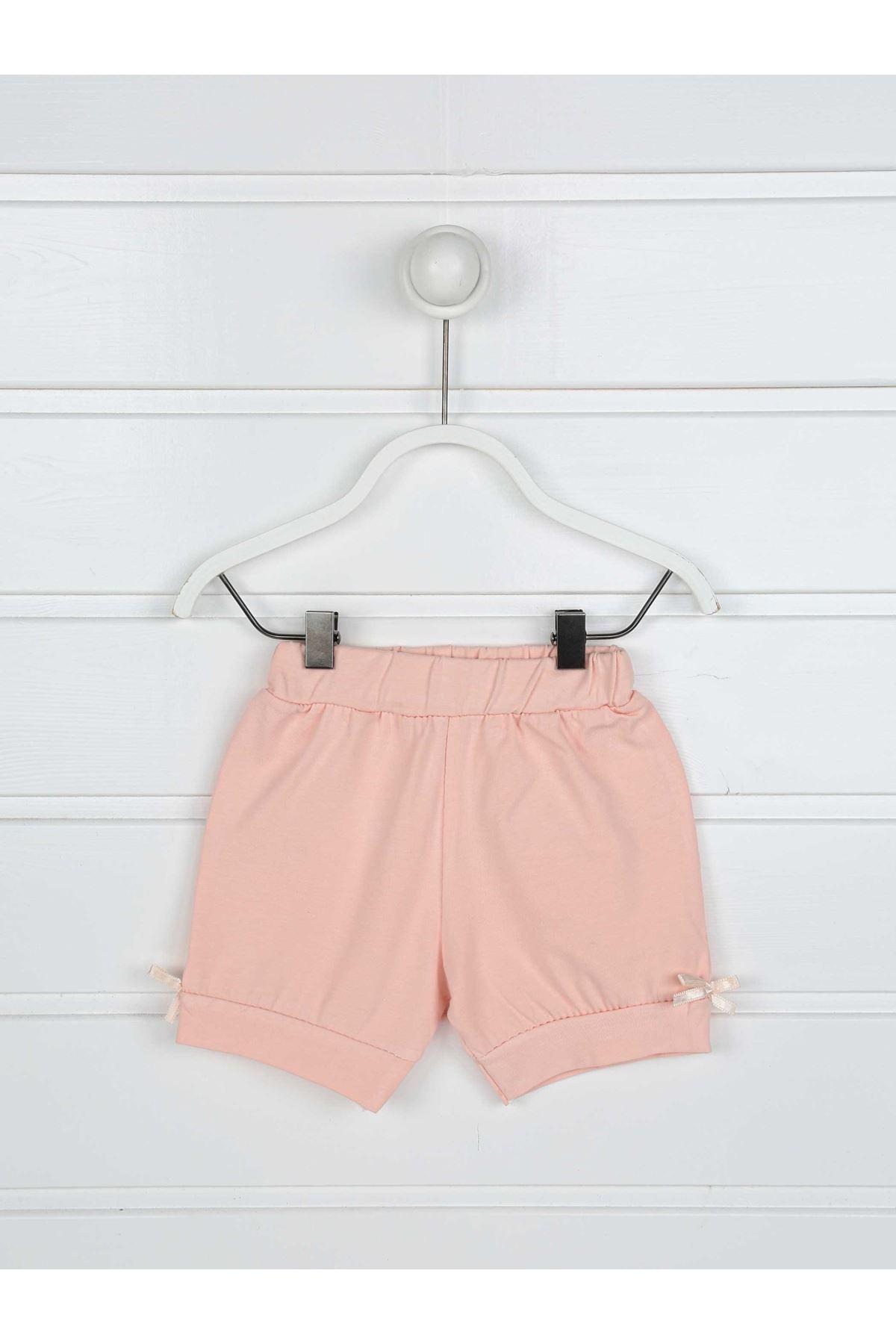 Powder Pink Summer baby girl set bottom tights t-shirt 2 pieces bottom top babies cotton seasonal models