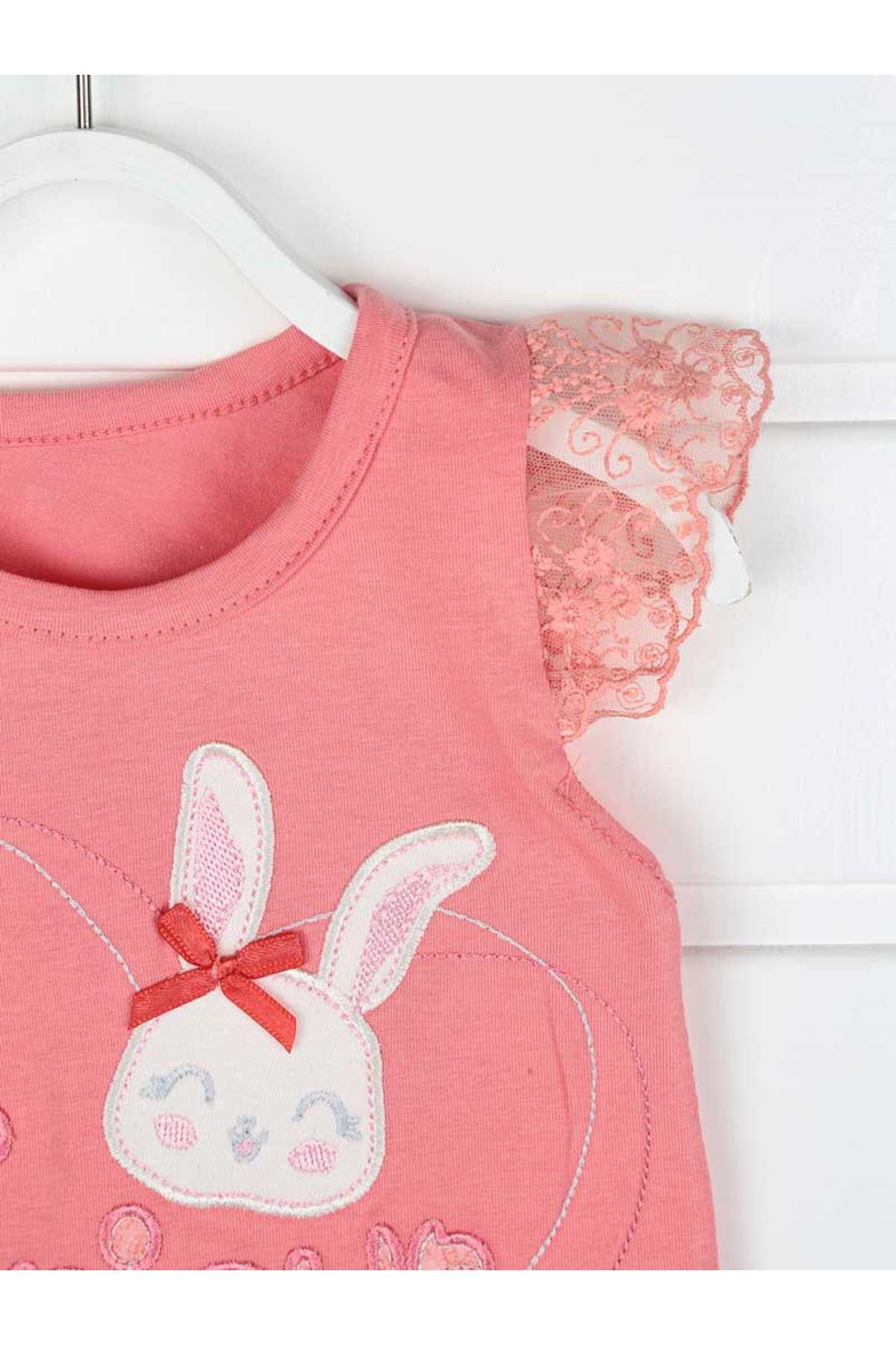 Narçiçeği Kız Bebek Şortlu Takım