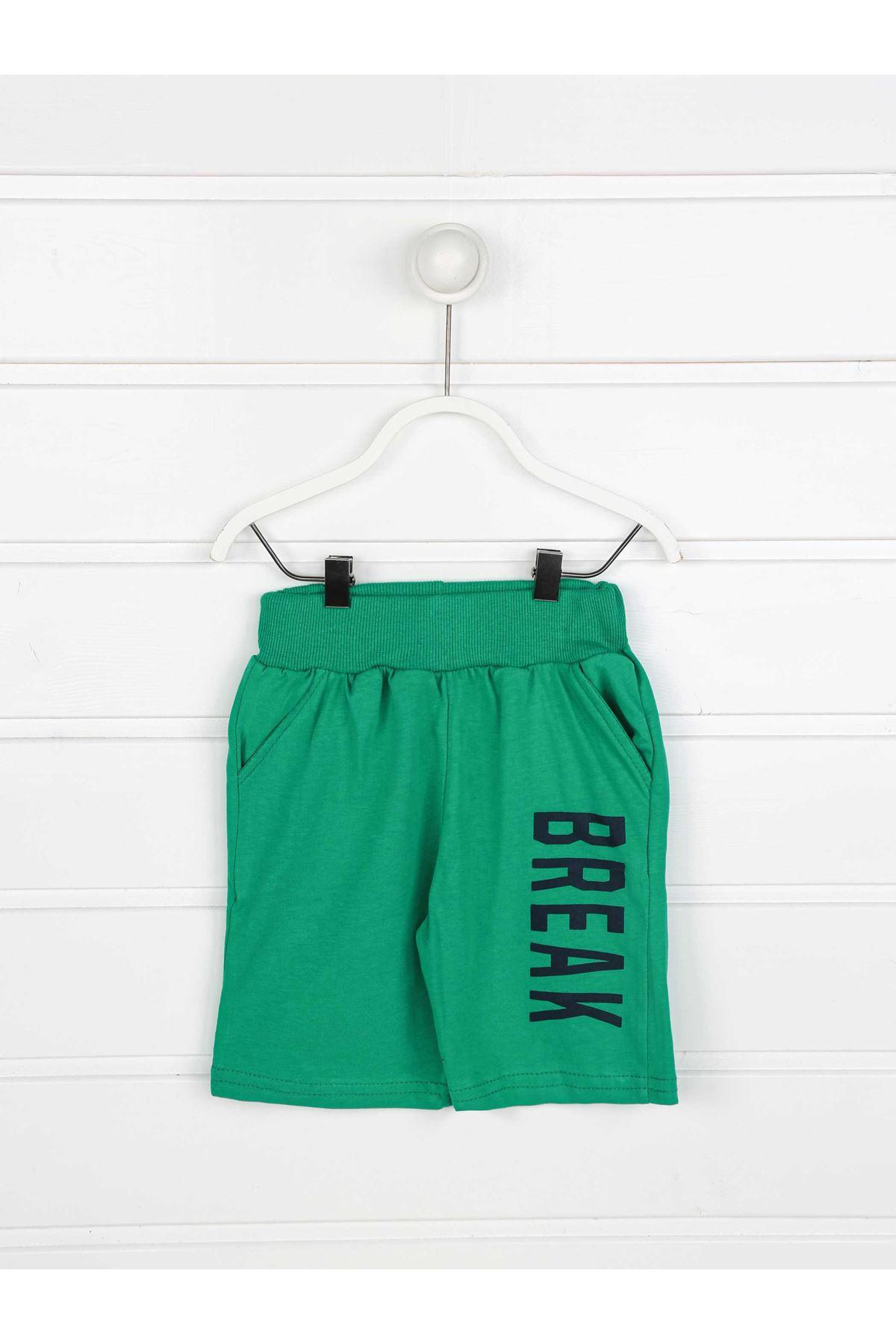 Yeşil Erkek Çocuk Şortlu Takım
