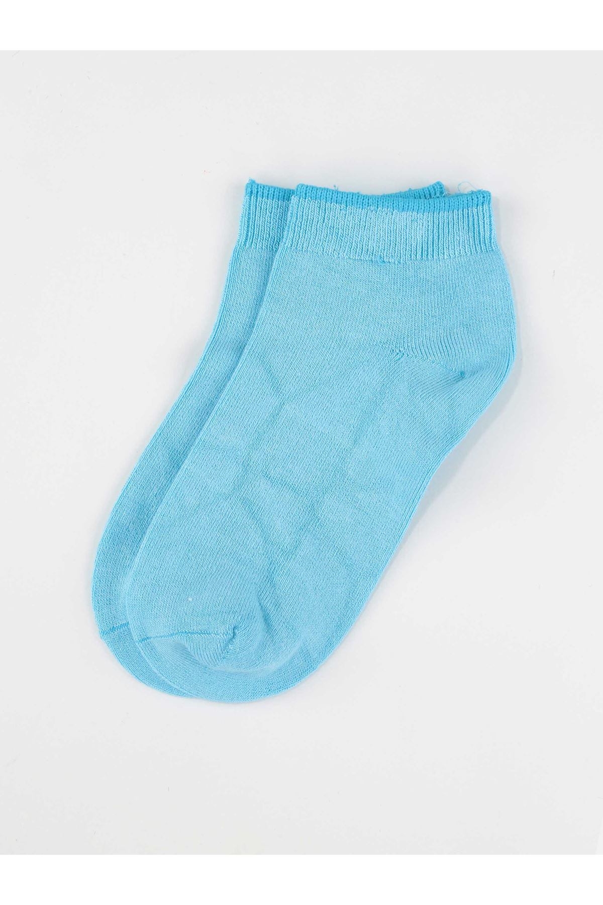 Blue Bamboo Girl's Booties Socks