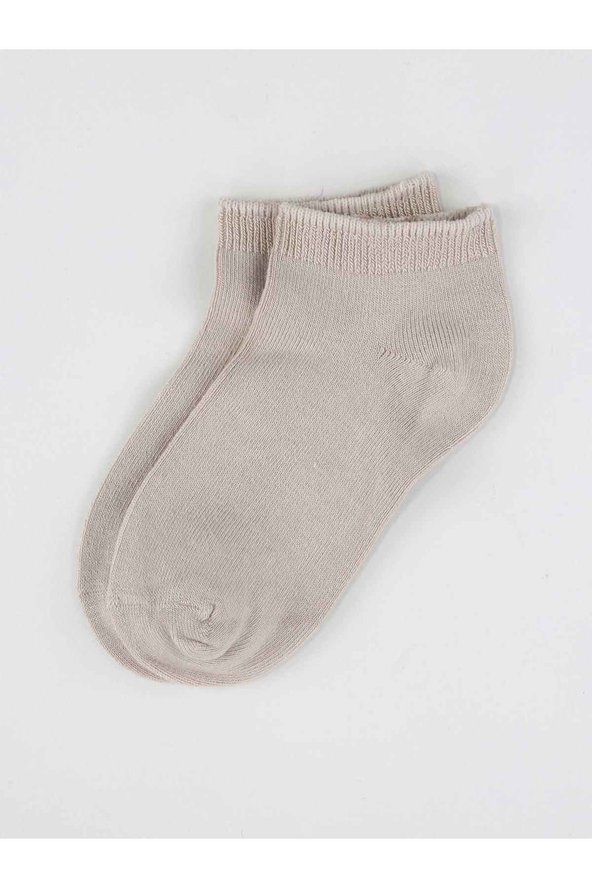 Cream Bamboo Boy's Booties Socks