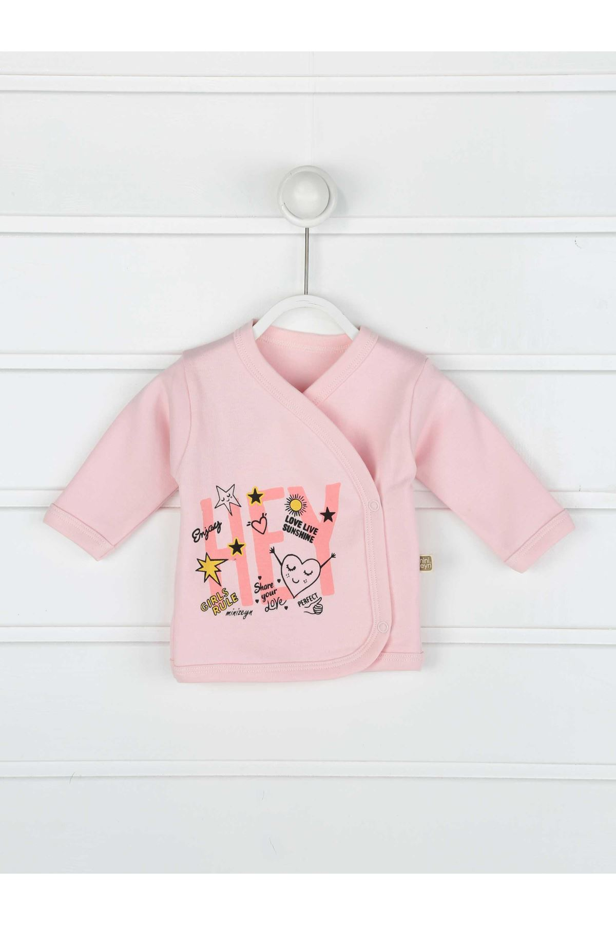 Pink Newborn baby Girl 5 piece suit set cotton hospital out daily casual Girls babies Clothes style fashion models