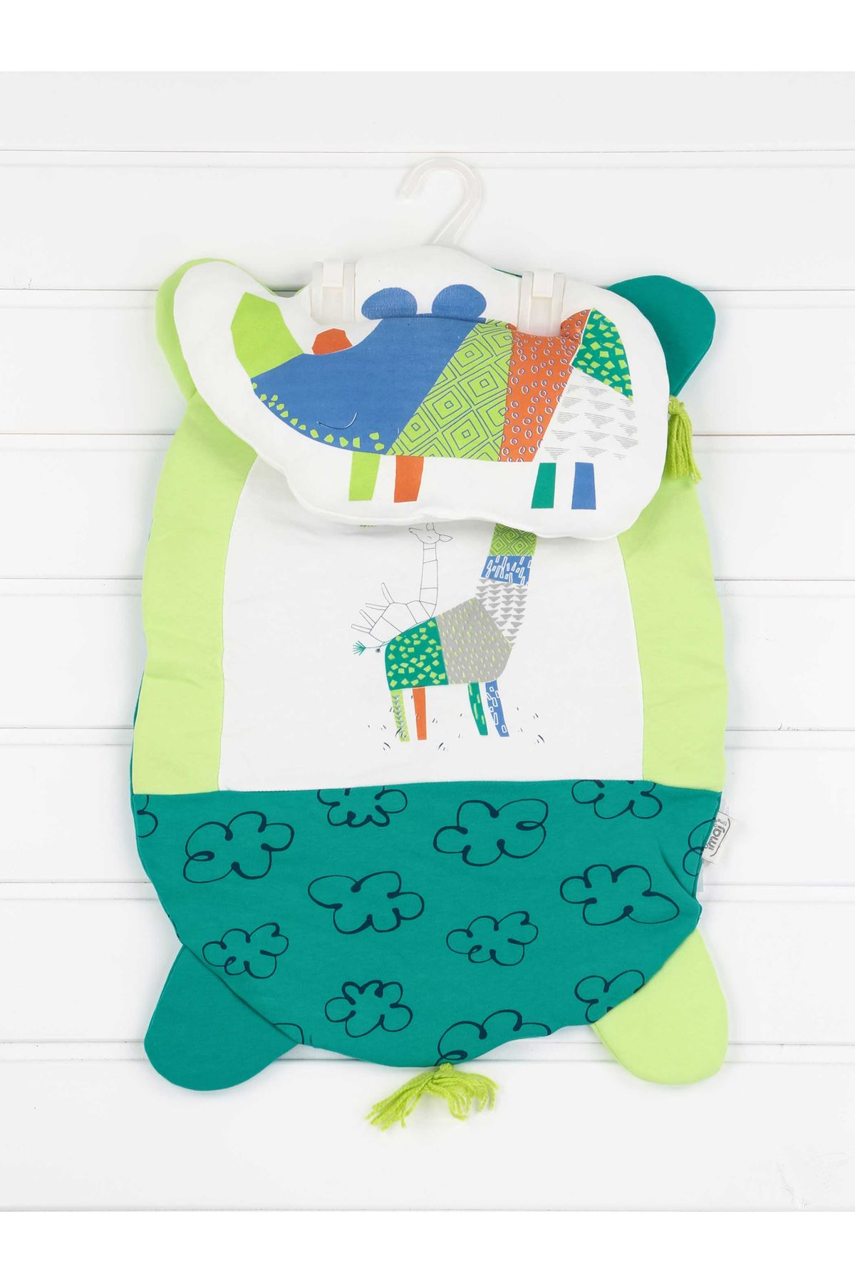 Yeşil Erkek Bebek Alt Açma Minderi
