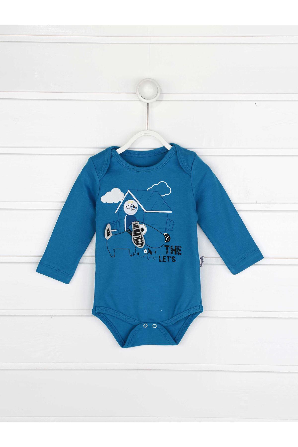 Mavi Erkek Bebek 3 lü Takım
