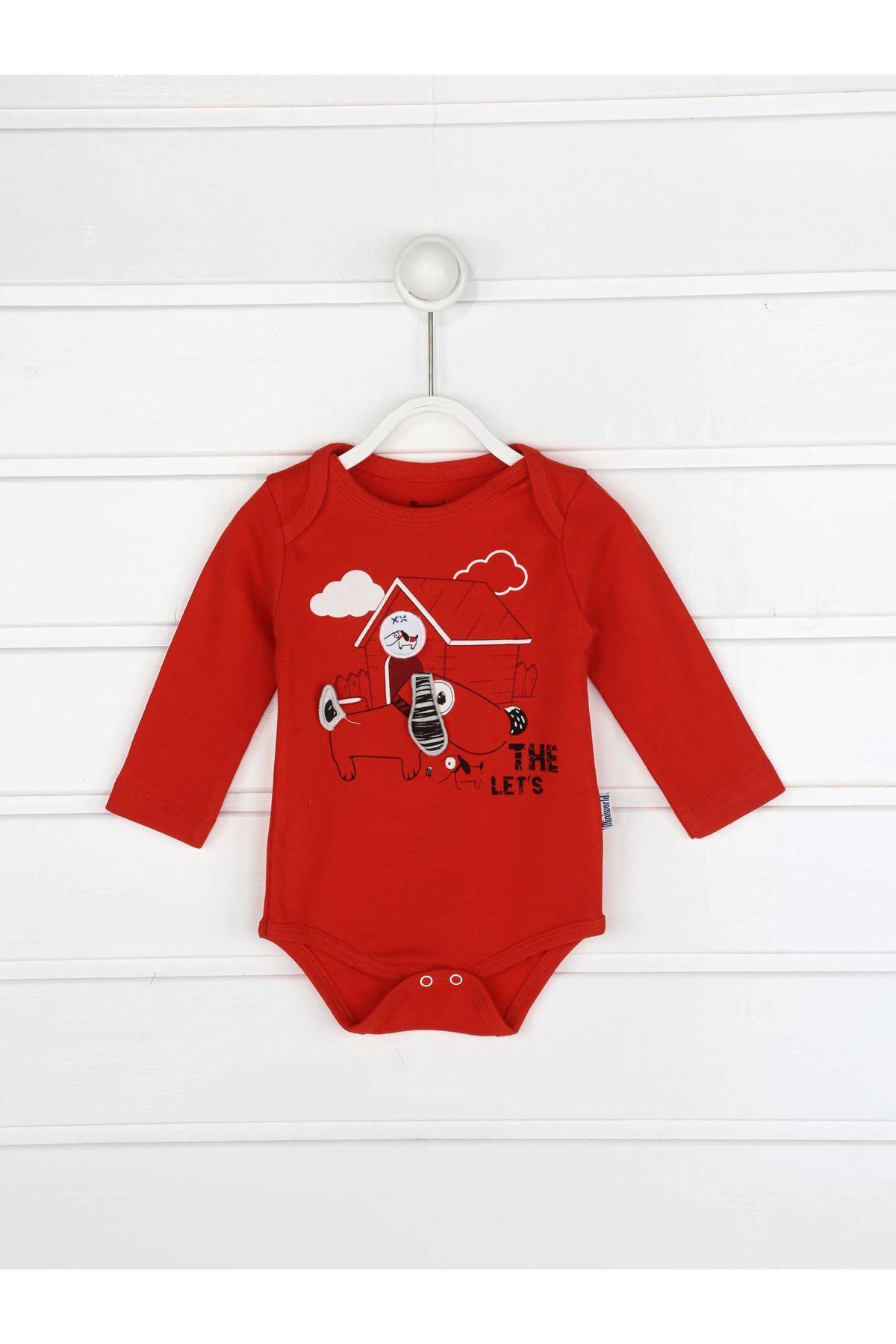 Kırmzı Erkek Bebek 3 lü Takım