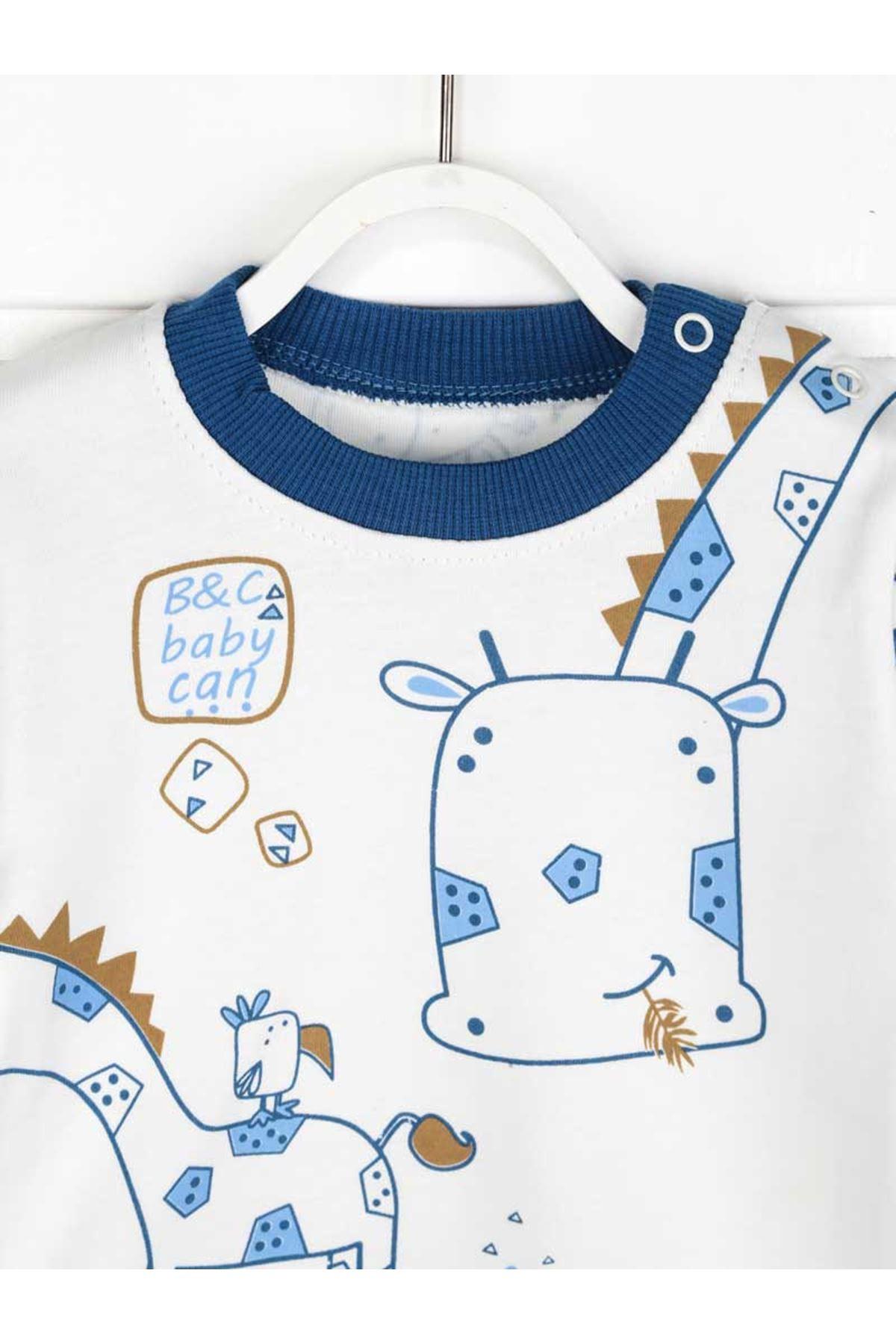 İndigo Erkek Bebek Pijama Takımı