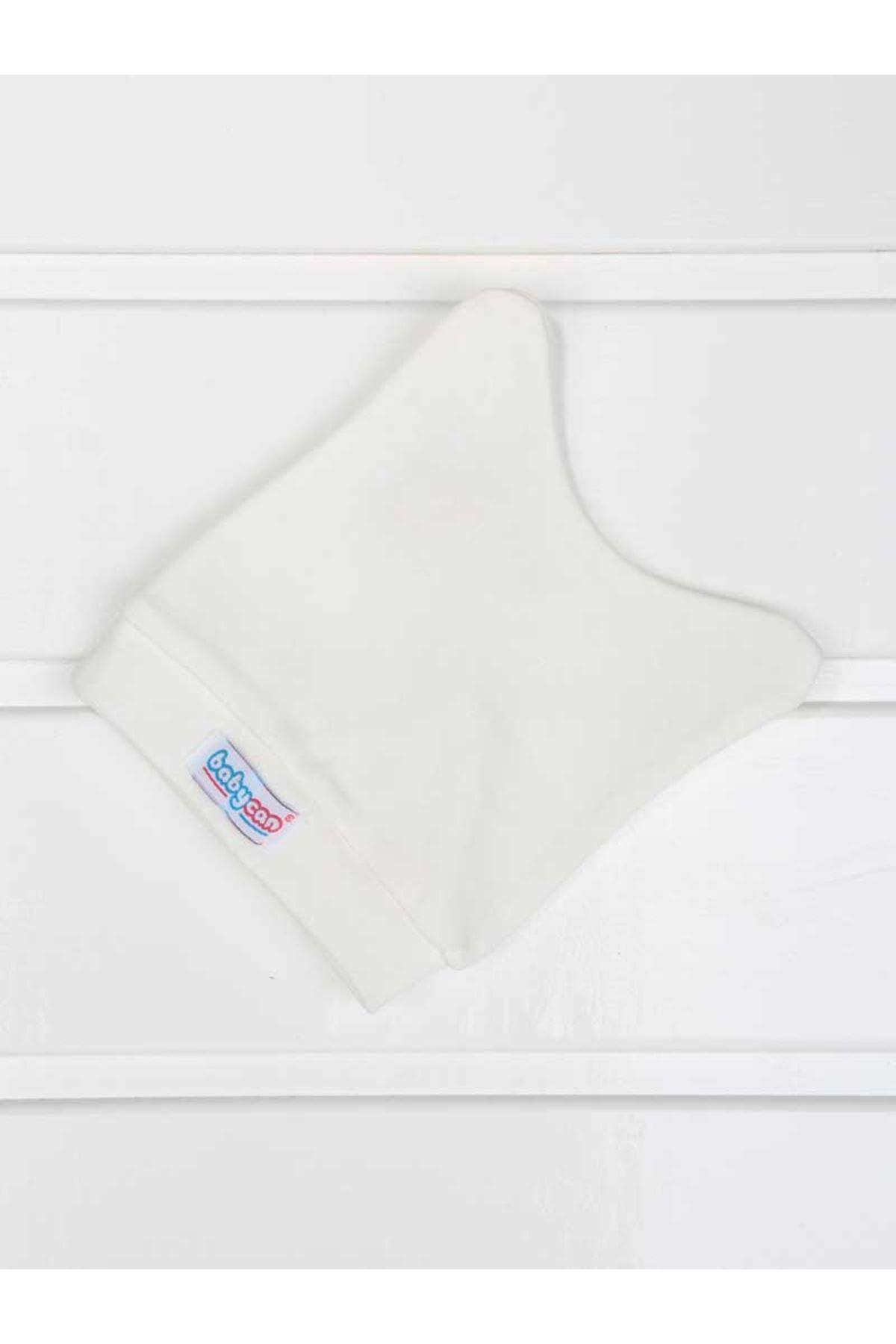 Beyaz Kundak Eldivenli Kız Bebek 3 lü Zıbın Takımı
