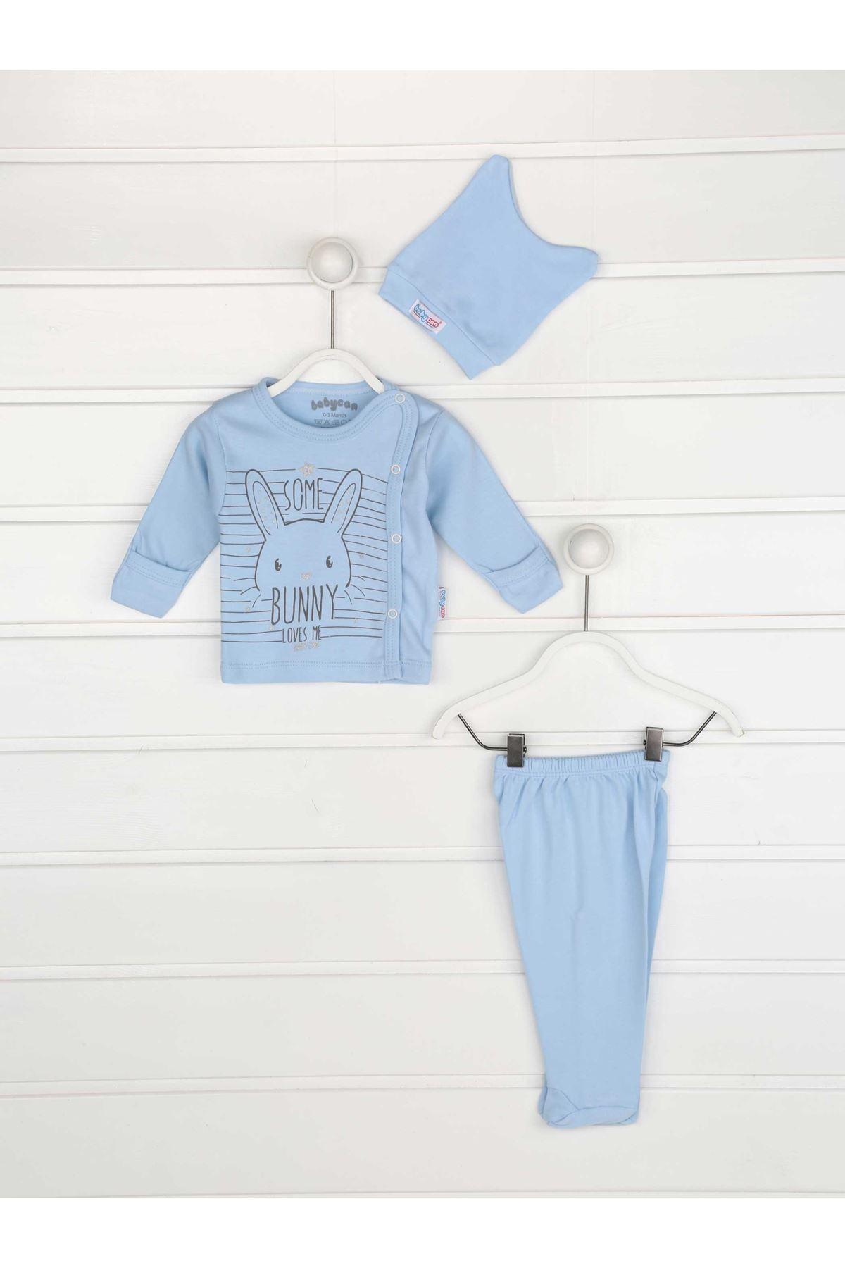 Blue Swaddle Gloved Male Baby 3 Pcs The Zibin team