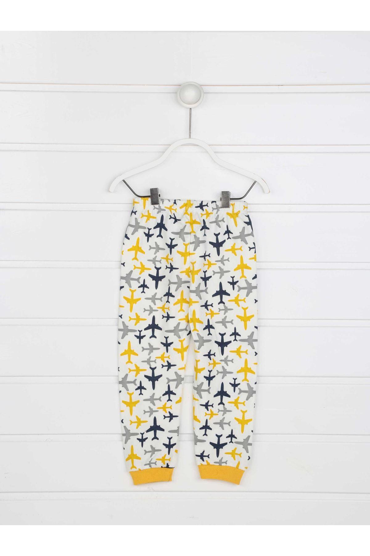 Sarı Erkek Çocuk Pijama Takımı