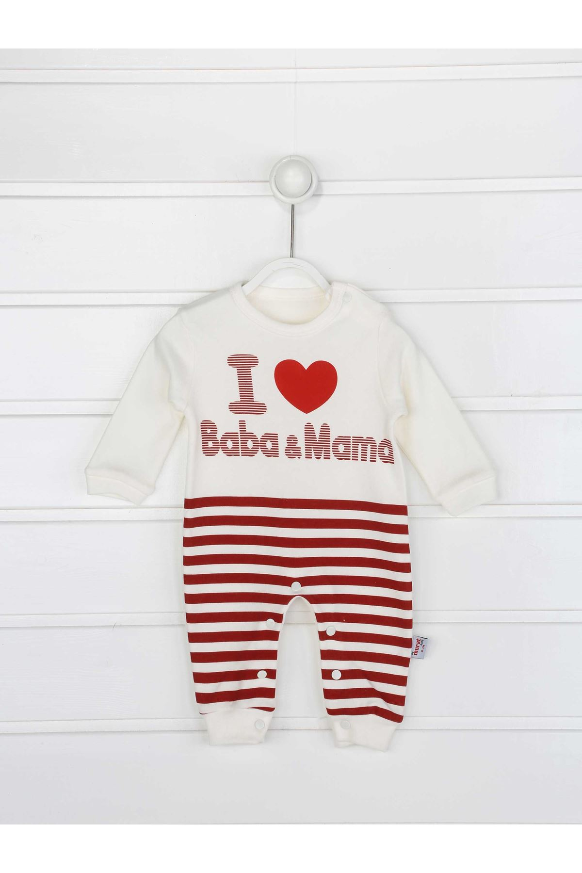 Red Male Baby Hat Jumpsuit