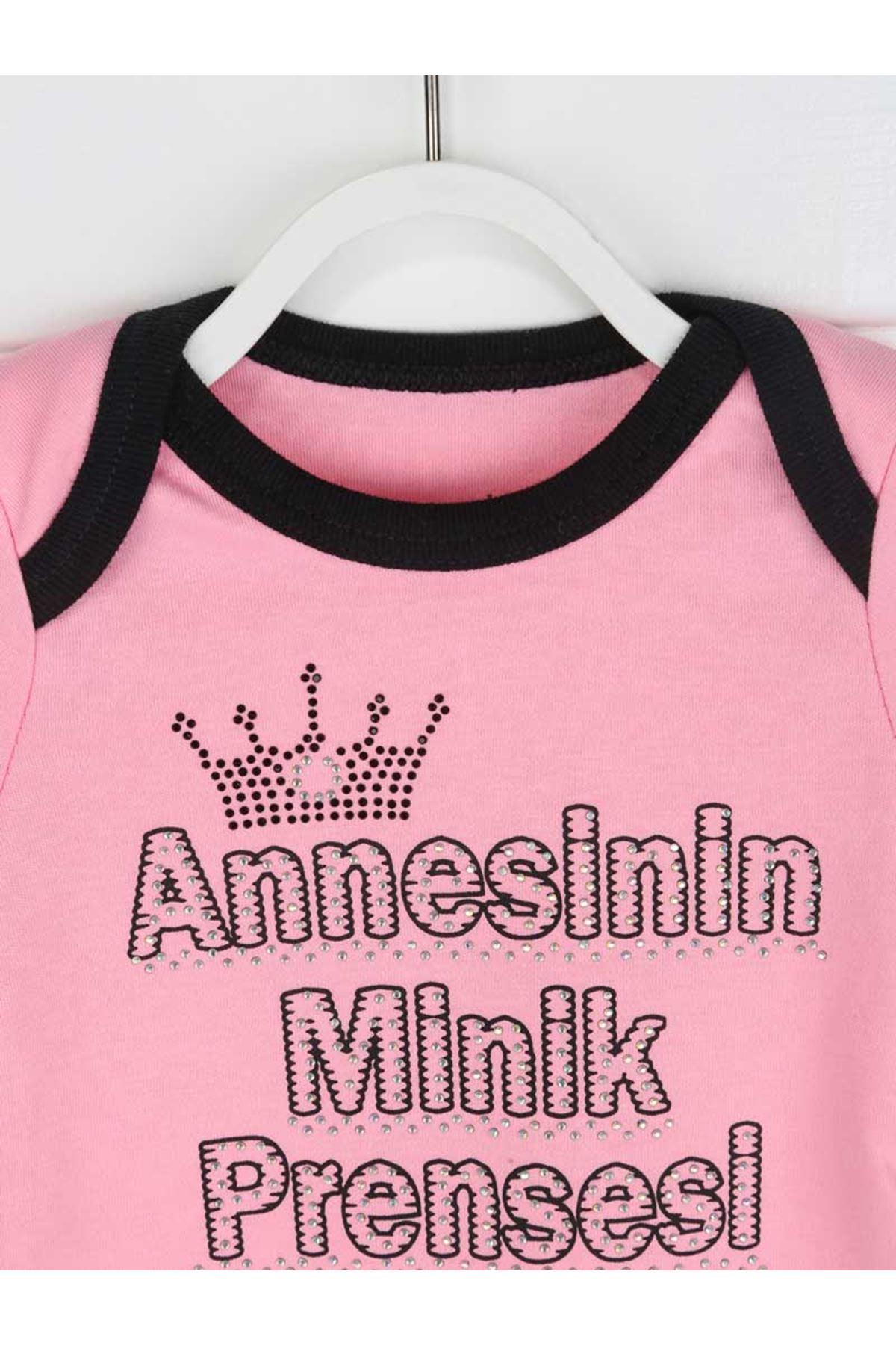 Pembe Annesinin Minik Prensesi Kız Bebek 3 lü Takım