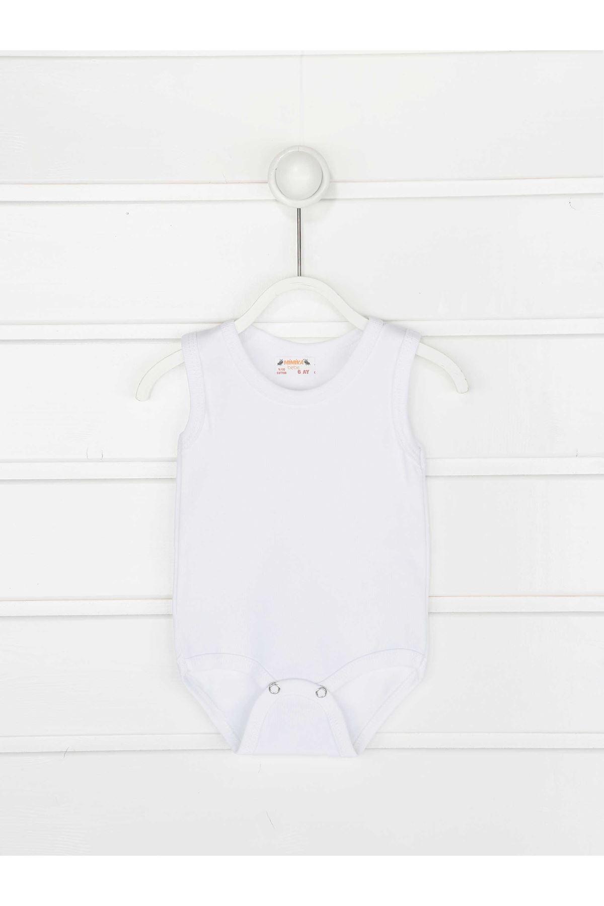 Beyaz Askılı Kız Bebek Badi