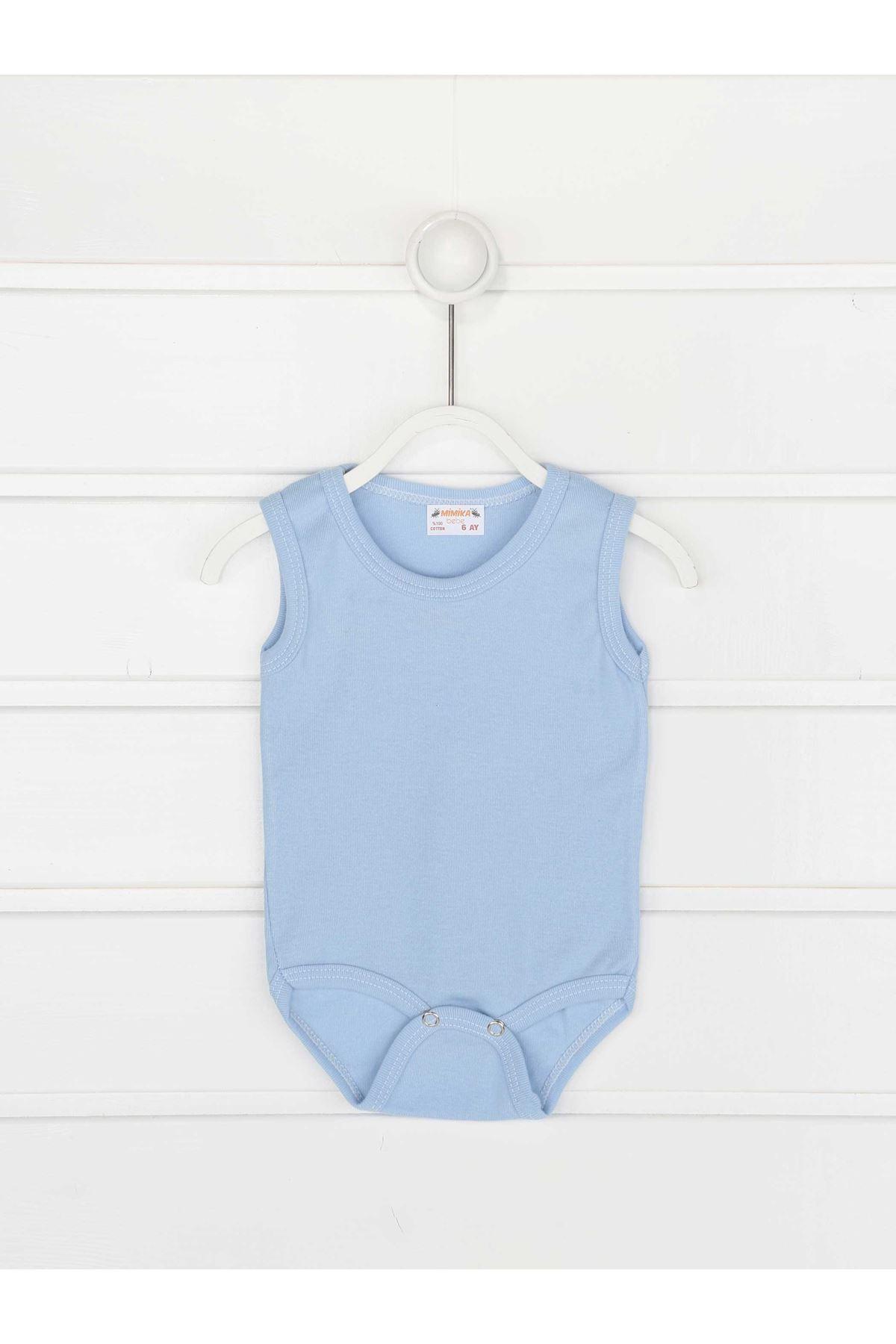 Mavi Askılı Erkek Bebek Badi