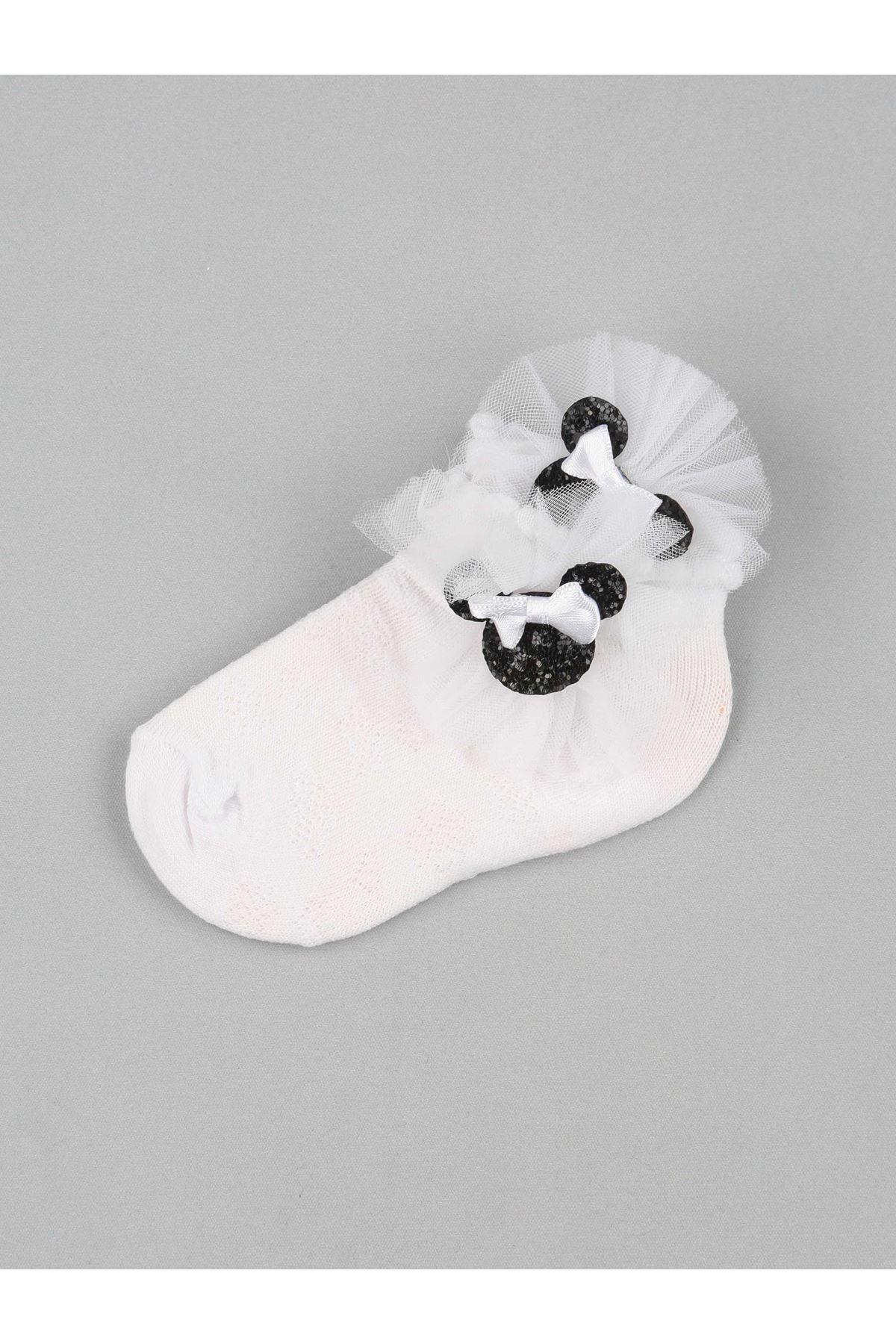 White Bow Tulle Girl Socks