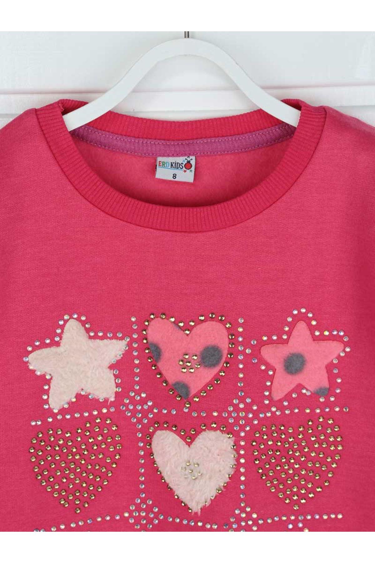 Fuşya Kışlık Kız Çocuk Sweatshirt