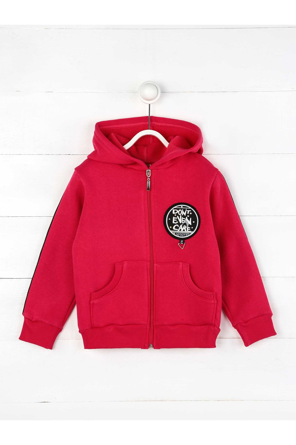 Fuşya Kışlık Kapüşonlu Kız Çocuk Ceket