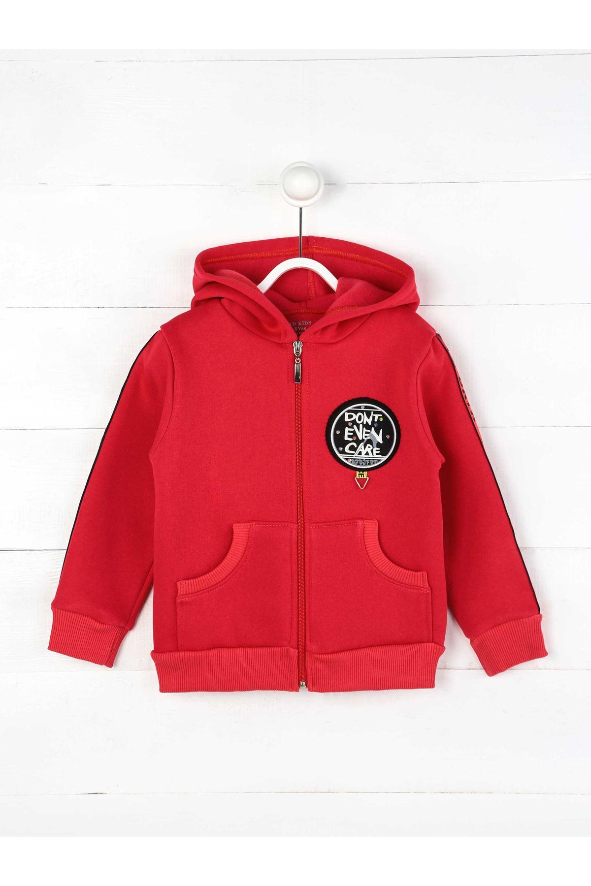 Pembe Kışlık  Kapüşonlu Kız Çocuk Ceket